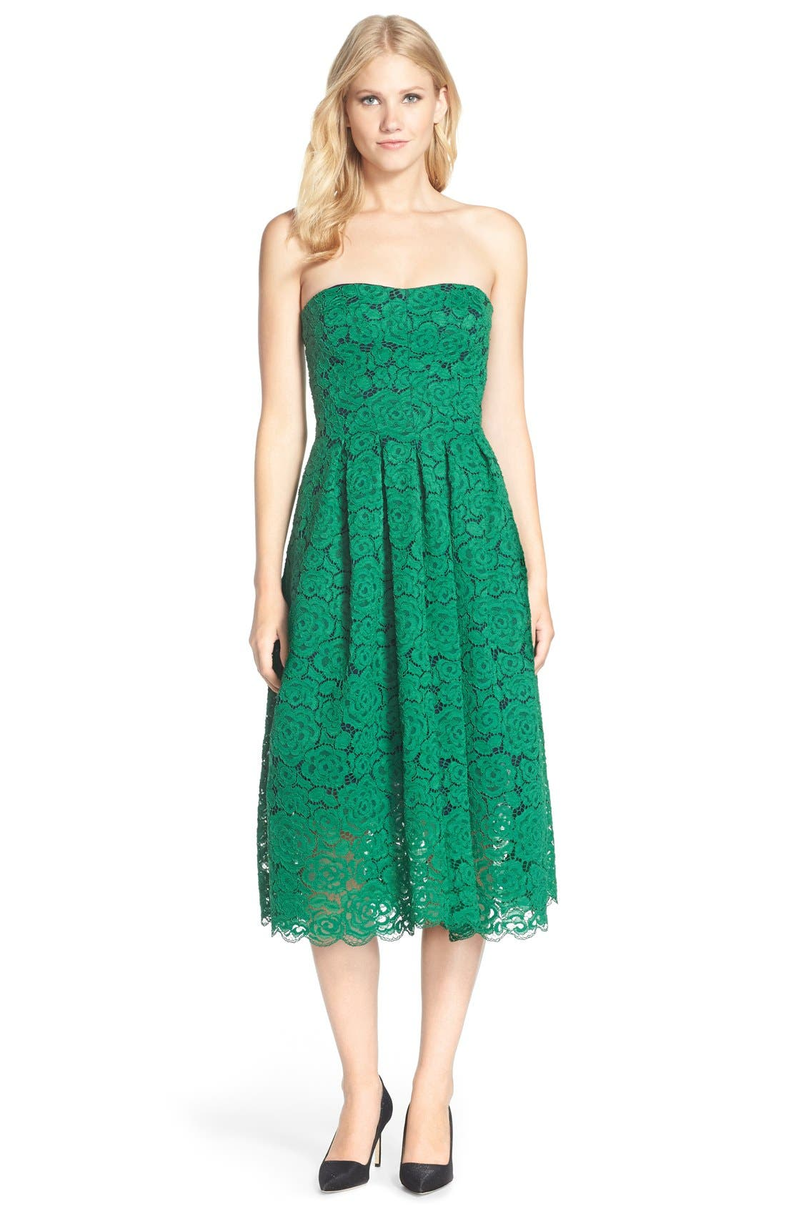 Alternate Image 3  - Vera Wang Lace Fit & Flare Dress