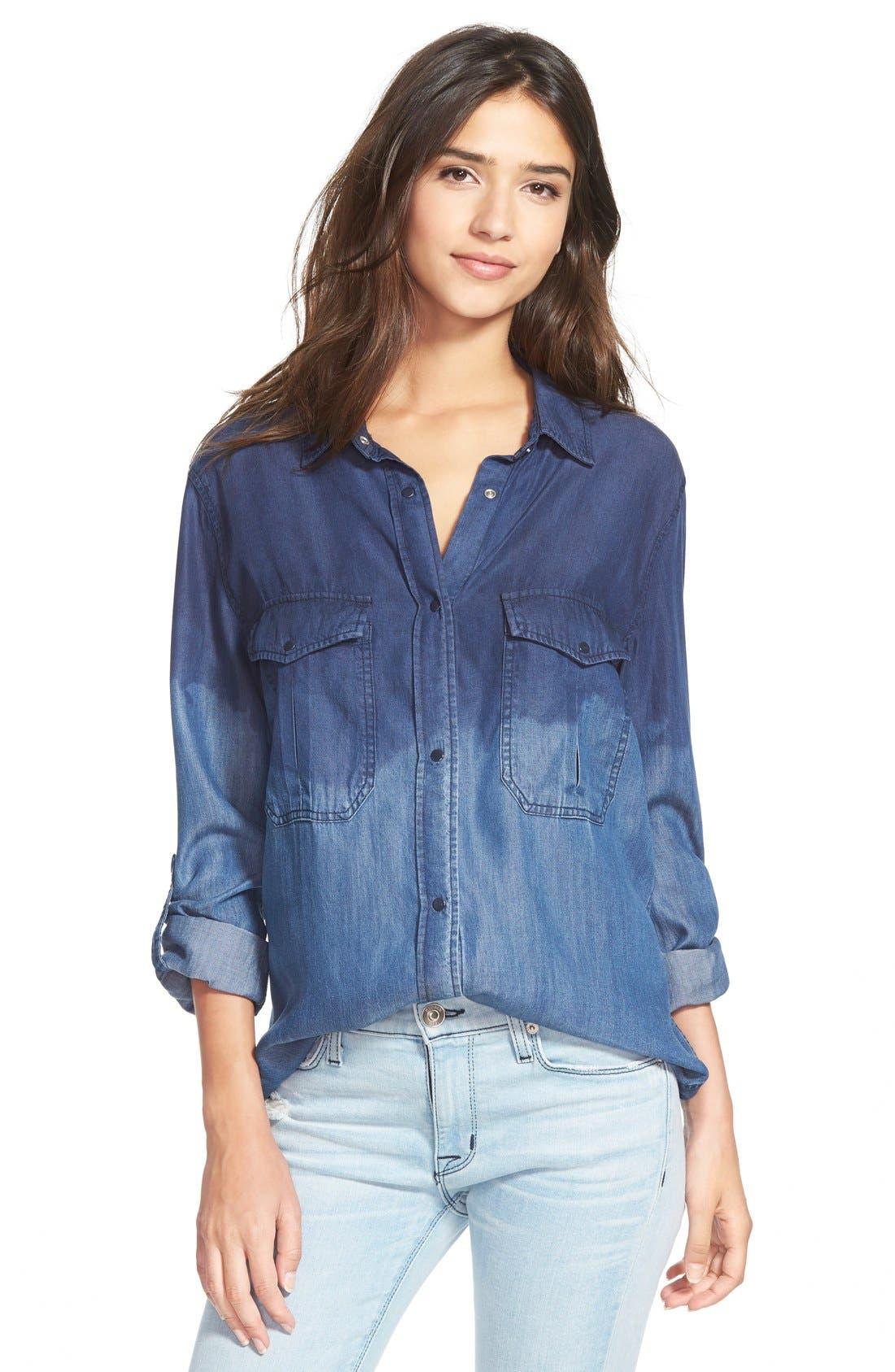 Main Image - Rails 'Marlow' Ombré Chambray Shirt