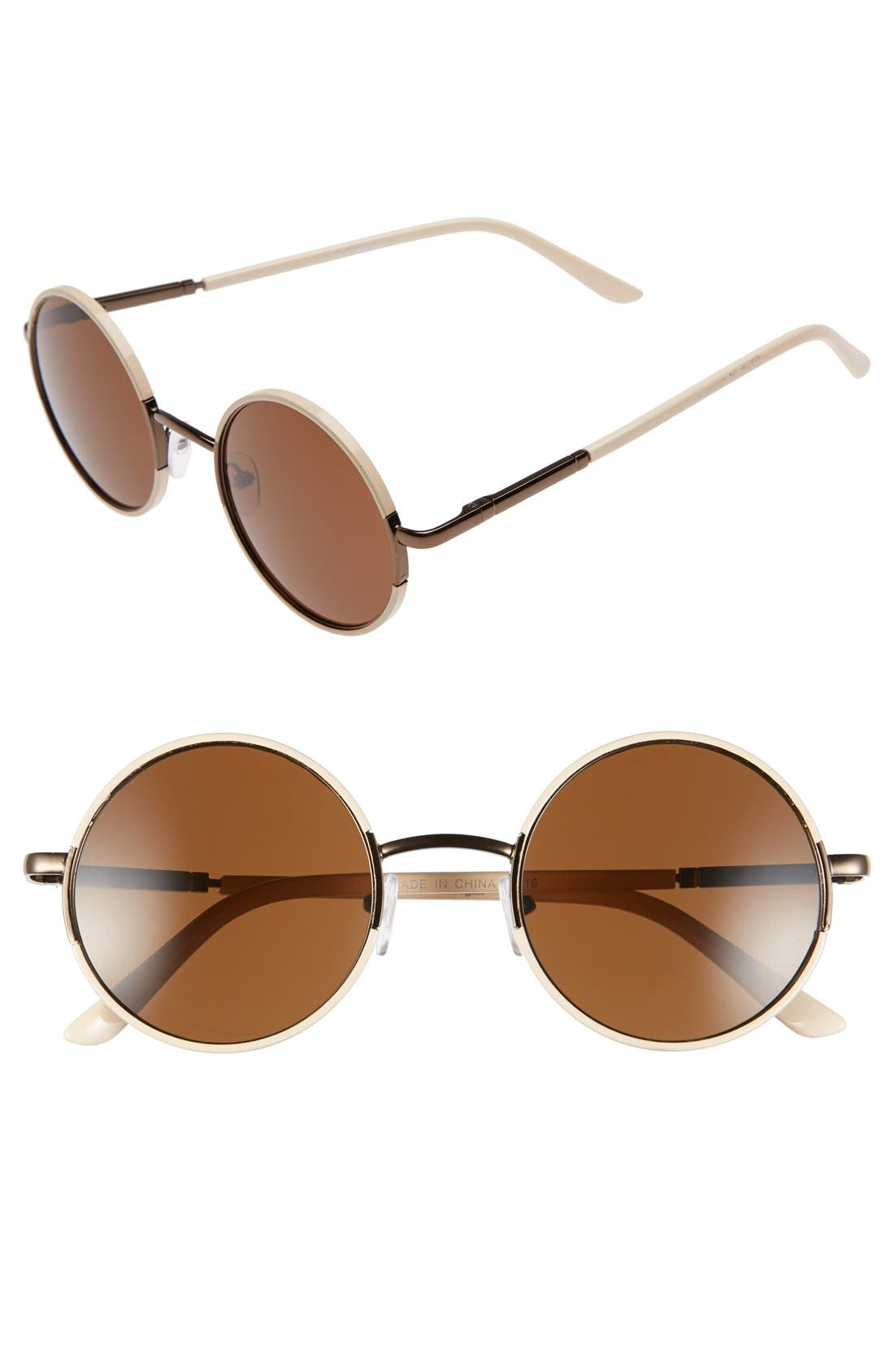Alternate Image 1 Selected - A.J. Morgan 'Soul Child' 49mm Metal Sunglasses