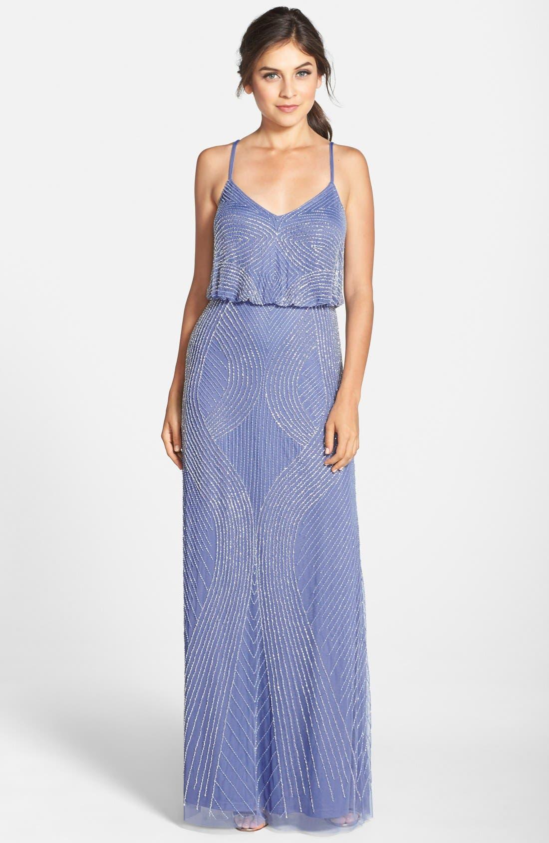 Main Image - Adrianna Papell Beaded Blouson Maxi Dress