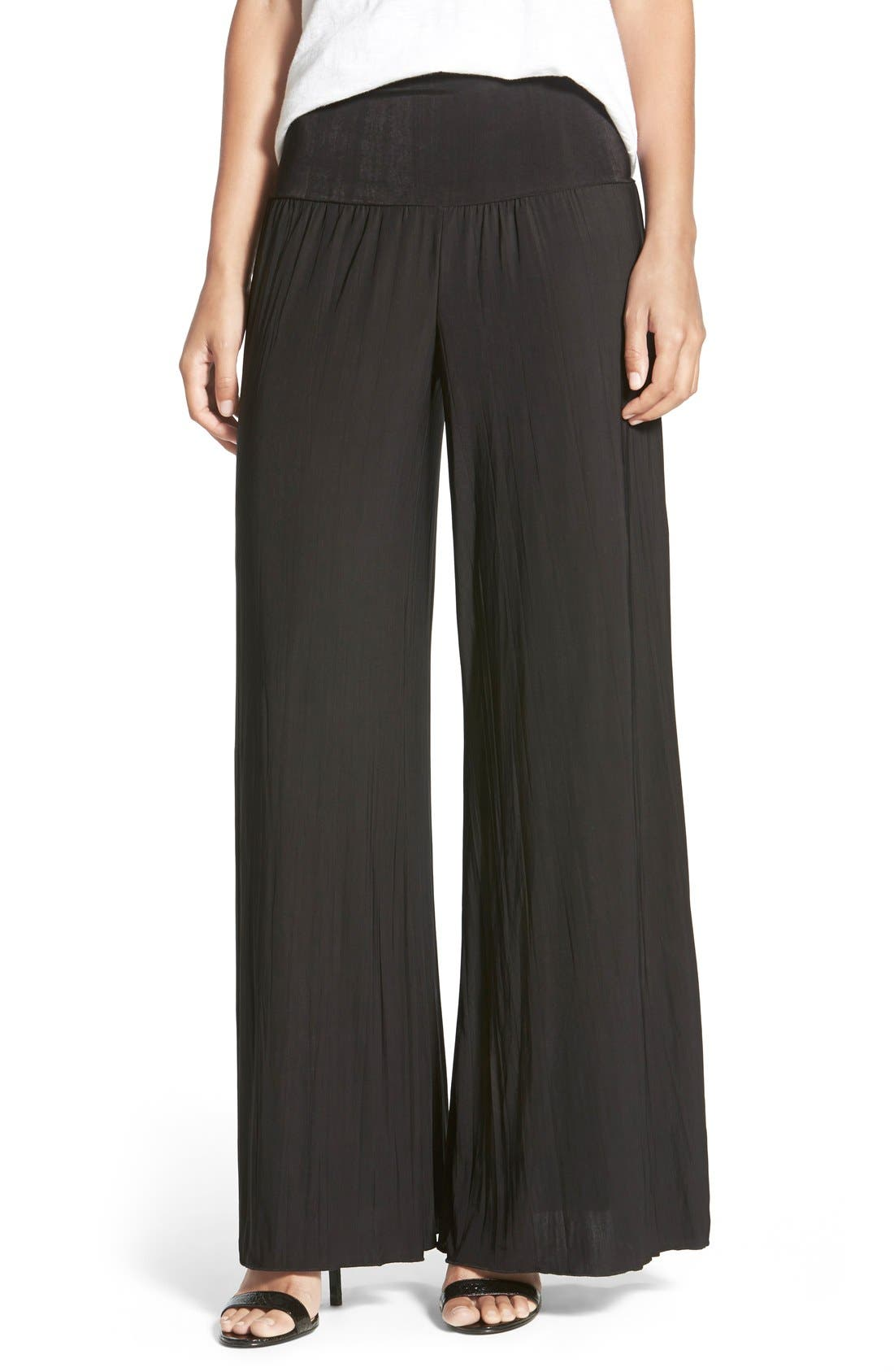 NIC+ZOE 'Feel Good' Foldover Waist Textured Knit Pants