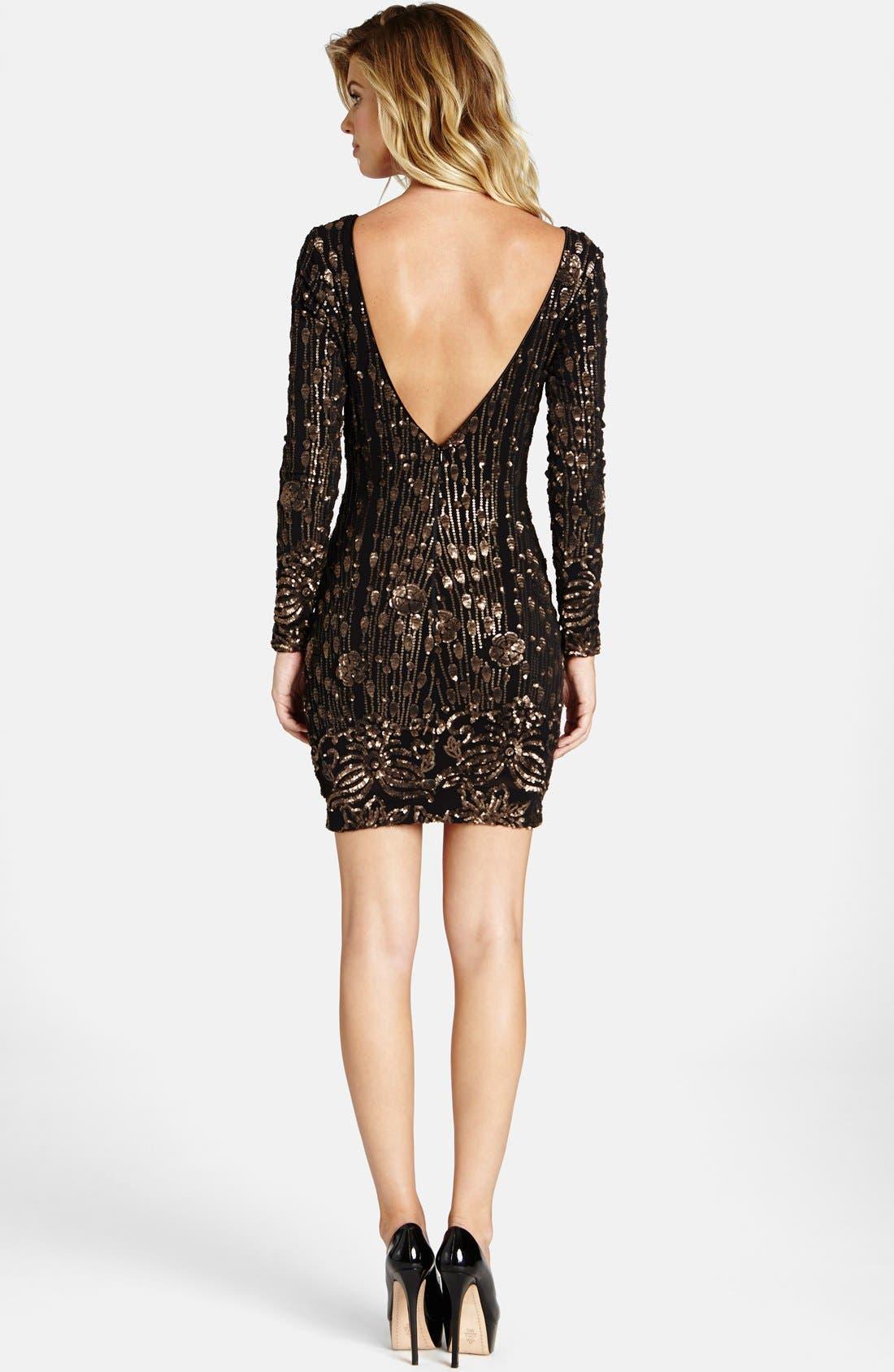 Alternate Image 2  - Dress the Population 'Lola' Sequin Minidress