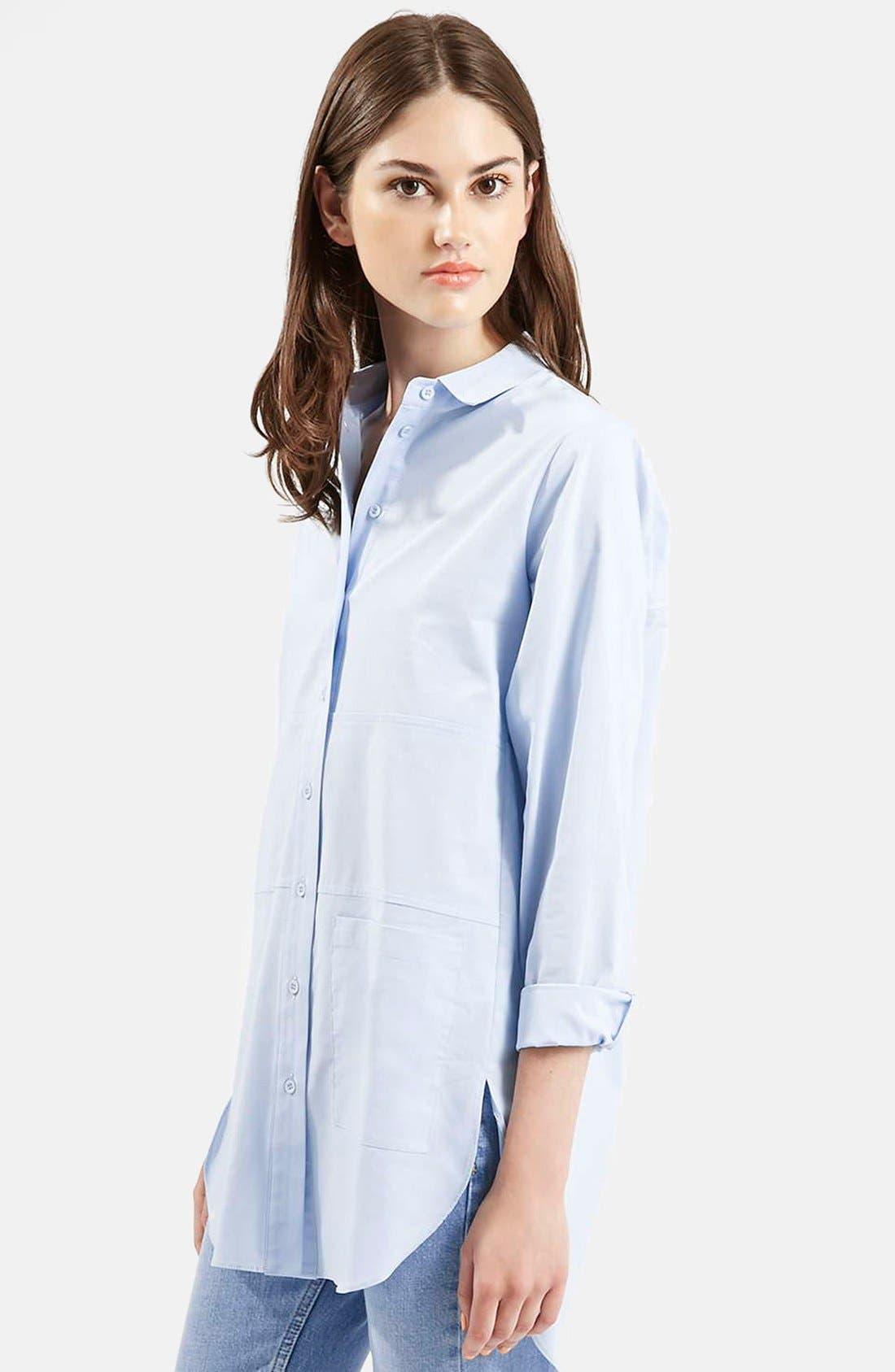 Alternate Image 5  - Topshop Oversize Button Front Shirt