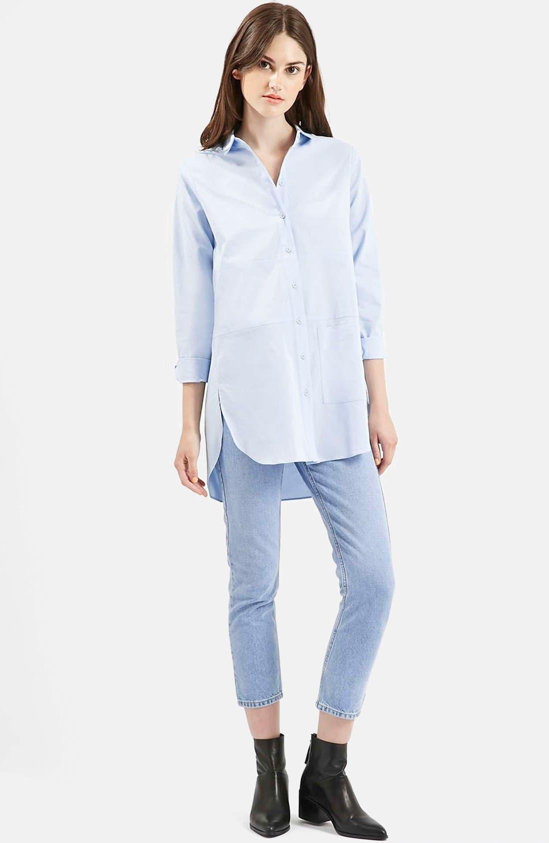 Main Image - Topshop Oversize Button Front Shirt
