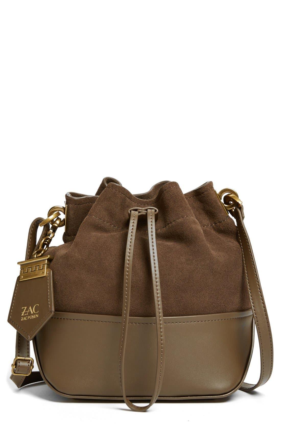 Main Image - ZAC Zac Posen 'Mini Eartha' Calfskin Bucket Bag