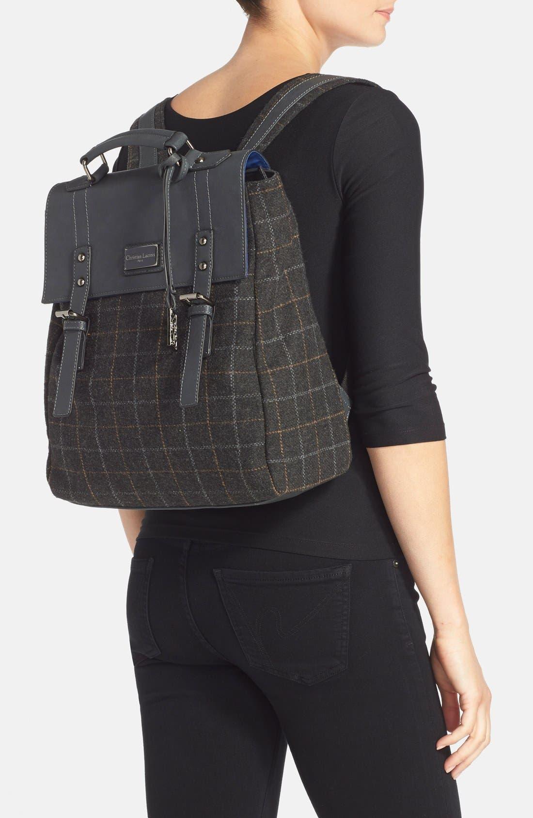 Alternate Image 2  - CXL by Christian Lacroix 'Strasbourg' Plaid Backpack