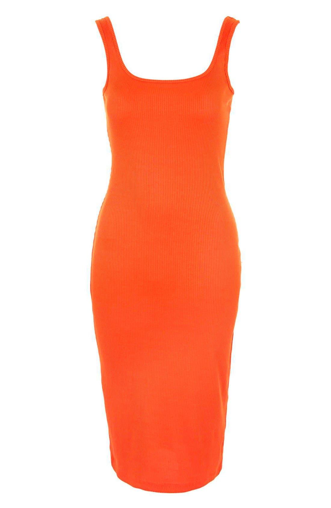 Alternate Image 3  - Topshop Ribbed Body-Con Midi Tank Dress