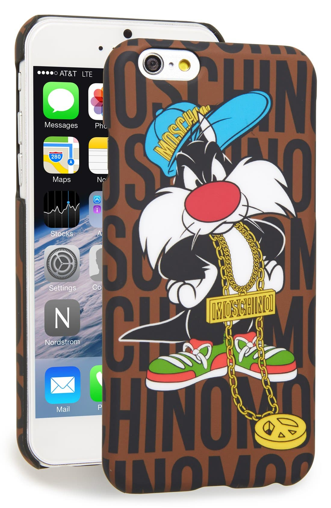 Alternate Image 1 Selected - Moschino 'Sylvester - Looney Tunes' iPhone 6 & 6s Case