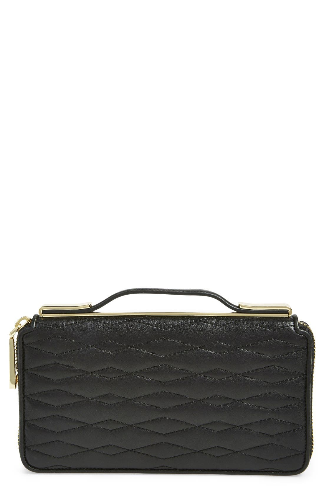 Alternate Image 1 Selected - Ivanka Trump 'Bedminster' Leather Clutch