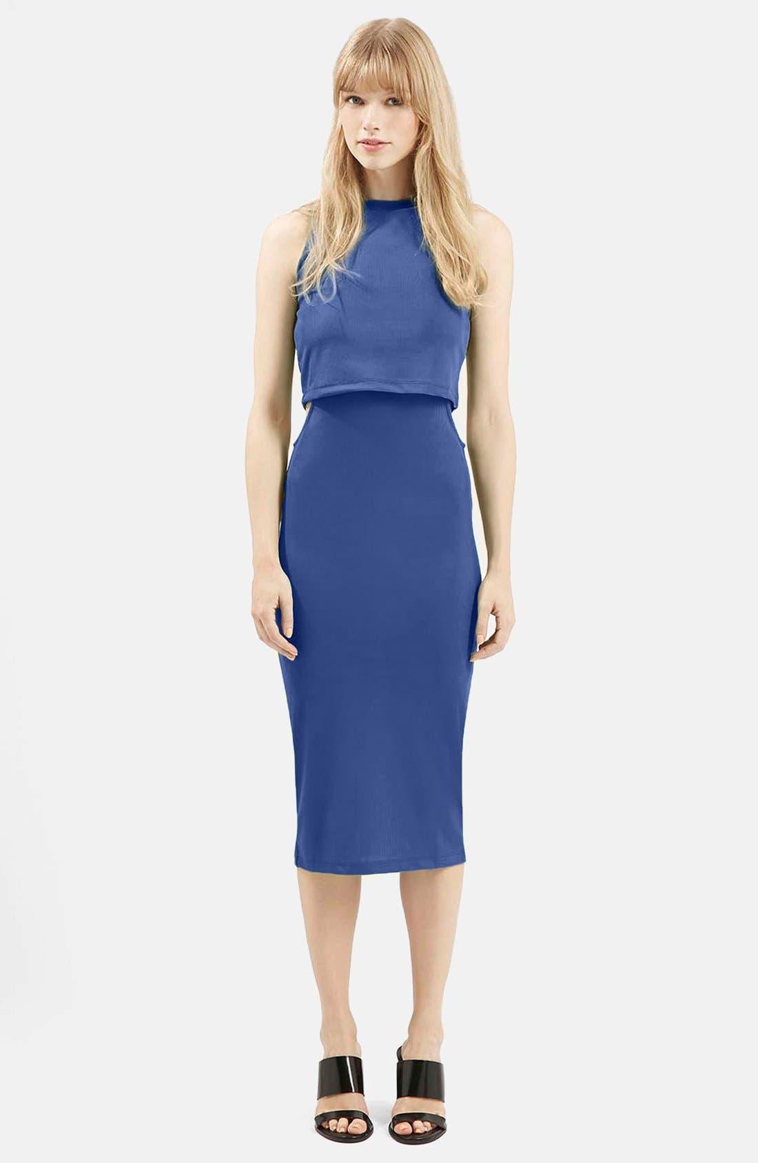 Alternate Image 1 Selected - Topshop Sleeveless Cutout Midi Dress