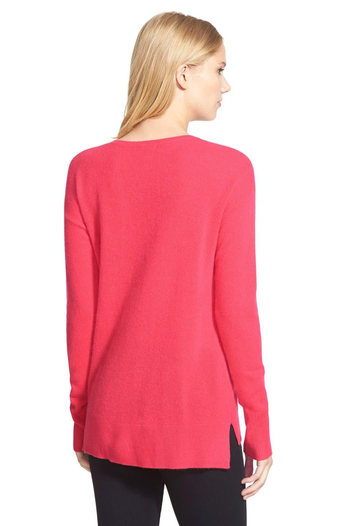 Alternate Image 3  - Halogen® V-Neck Lightweight Cashmere Sweater (Regular & Petite)