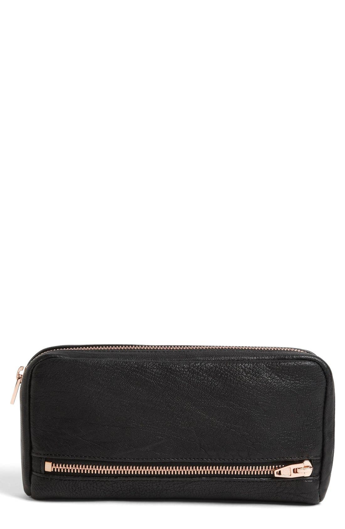Main Image - Alexander Wang 'Fumo' Zip Top Leather Pouch Wallet