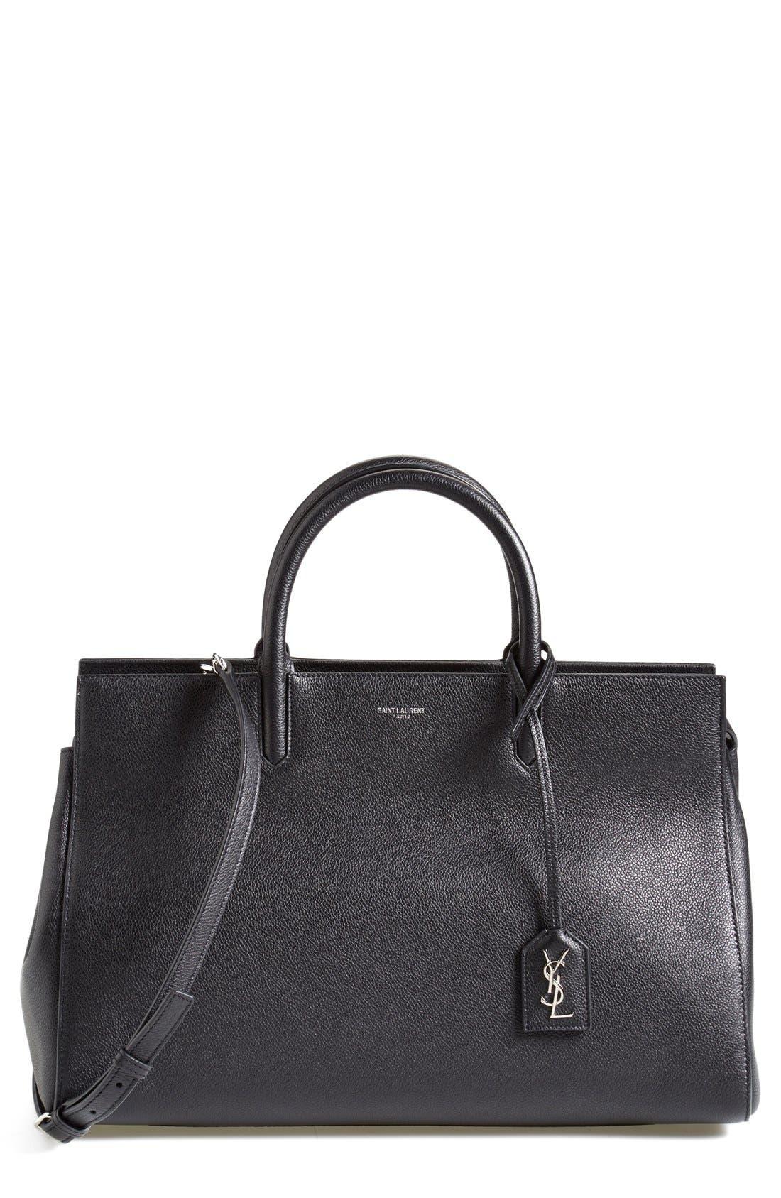 SAINT LAURENT 'Medium Cabas Rive Gauche' Grained Leather