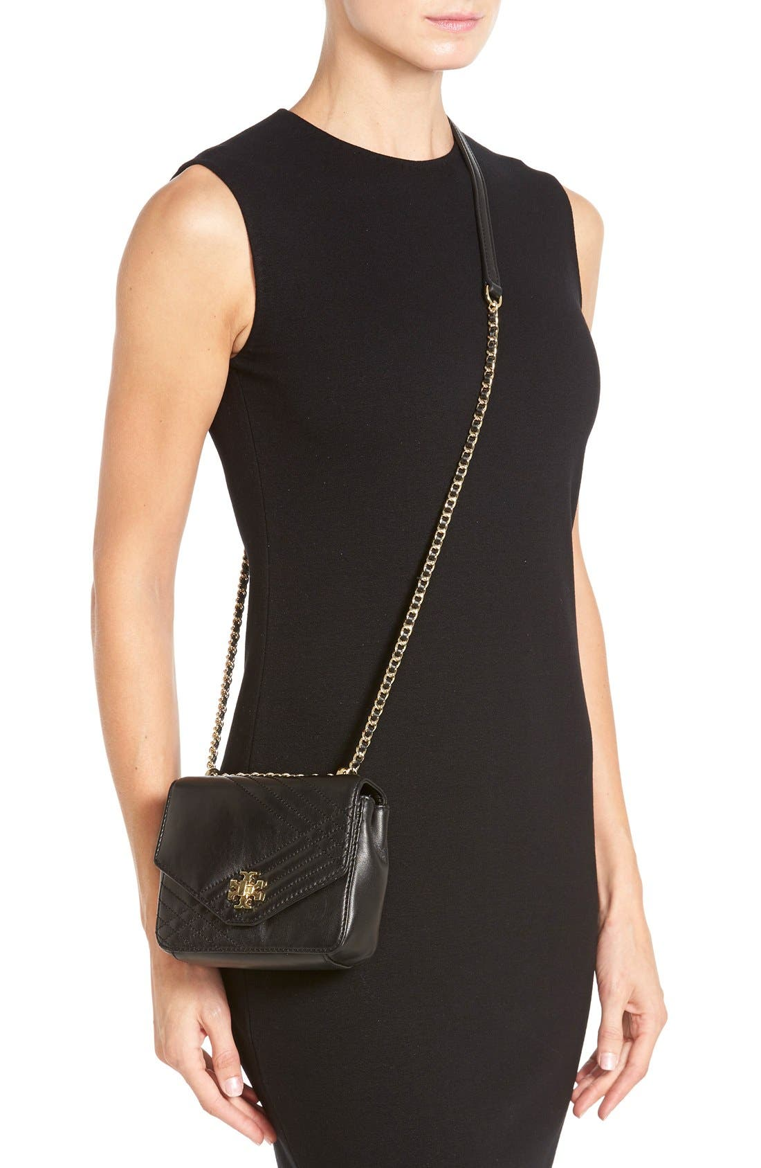 Alternate Image 2  - Tory Burch 'Mini Kira' Quilted Crossbody Bag