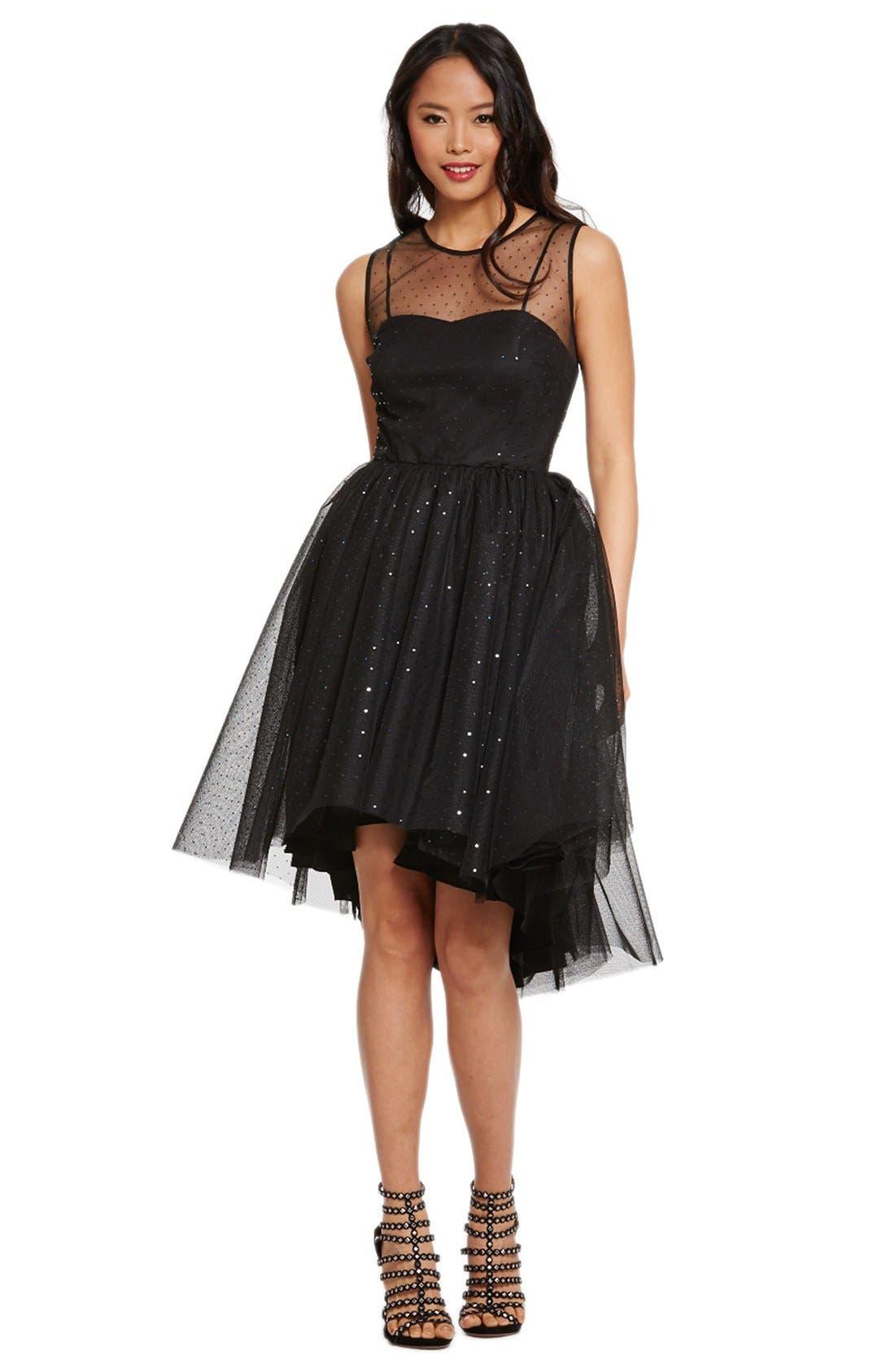 Main Image - Donna Morgan Embellished Tulle Fit & Flare Dress