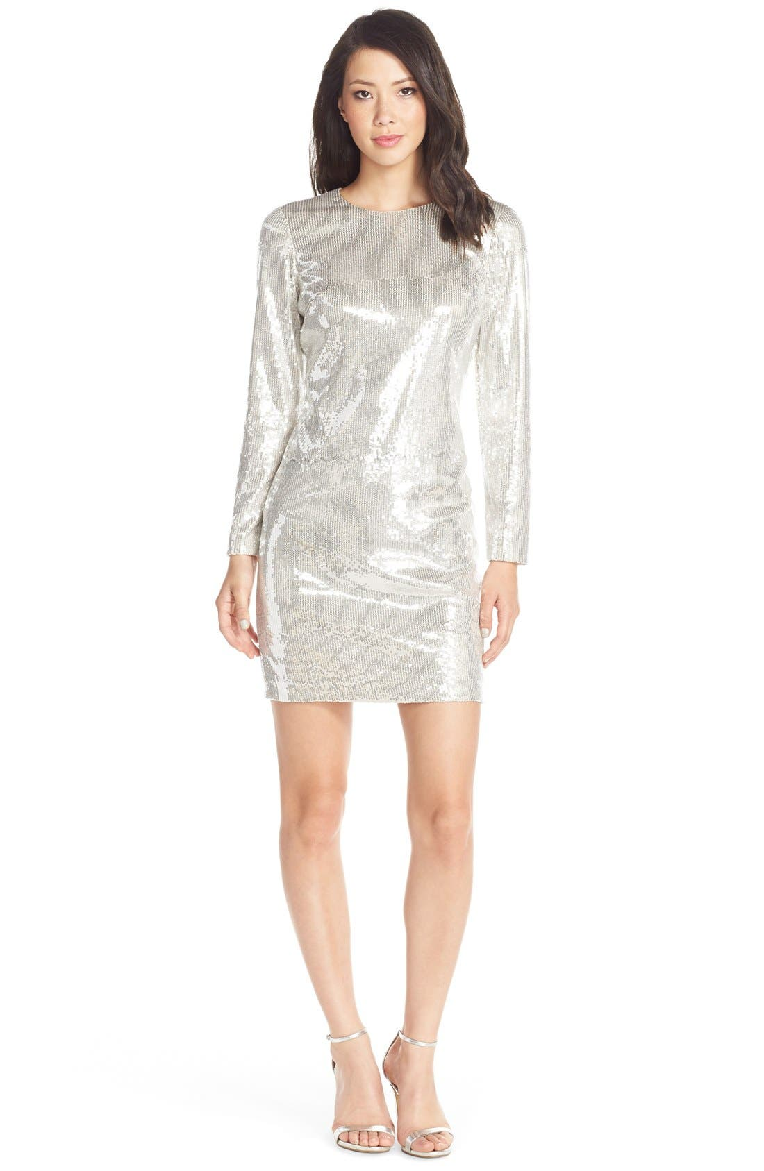 Alternate Image 1 Selected - Maia Sequin Body-Con Dress