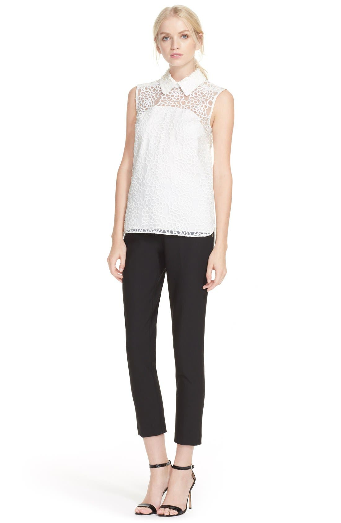 Alternate Image 2  - kate spade new york sleeveless floral organza top
