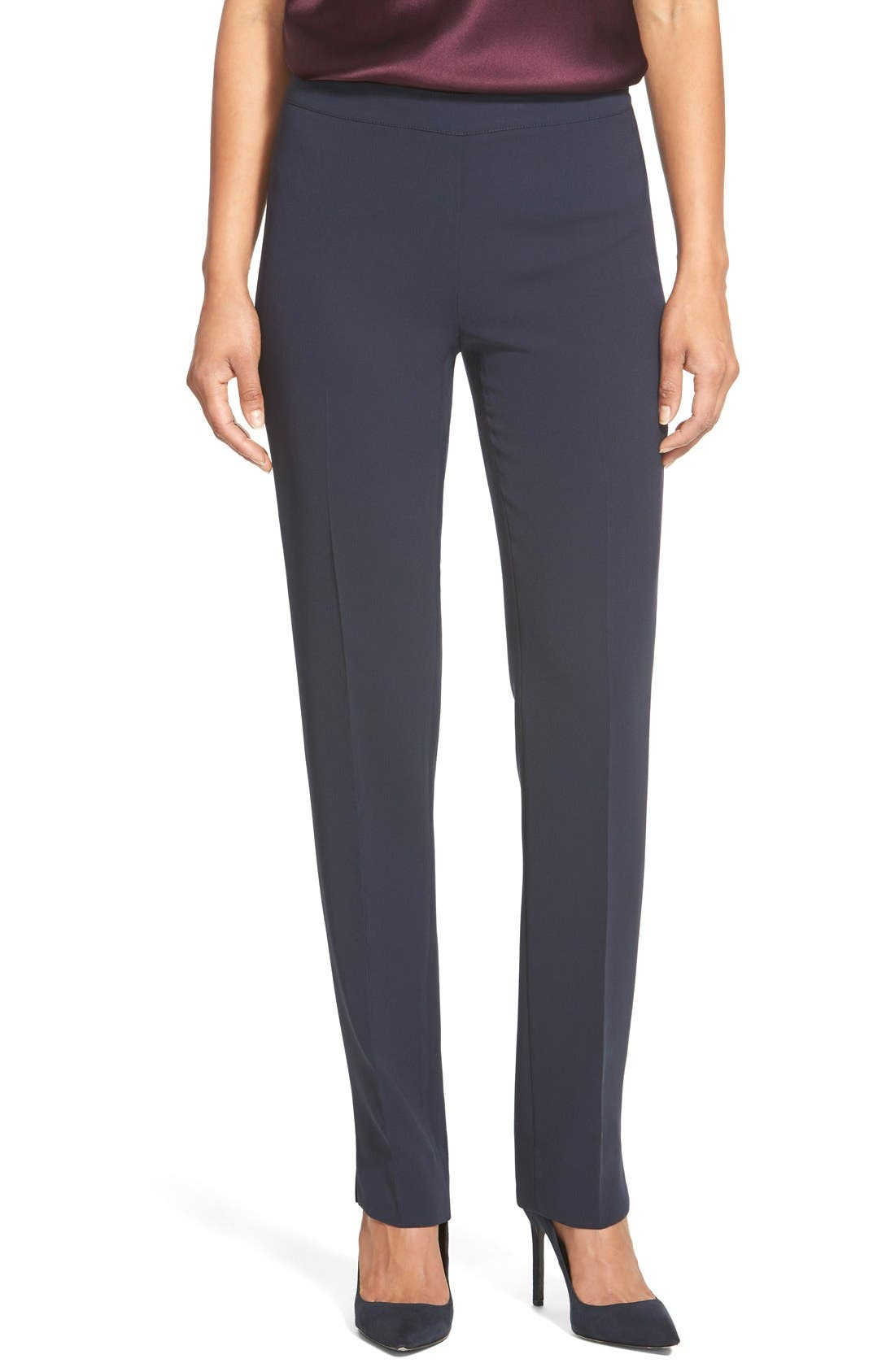 Main Image - Lafayette 148 New York 'Bleecker - Finesse Crepe' Pants (Regular & Petite)