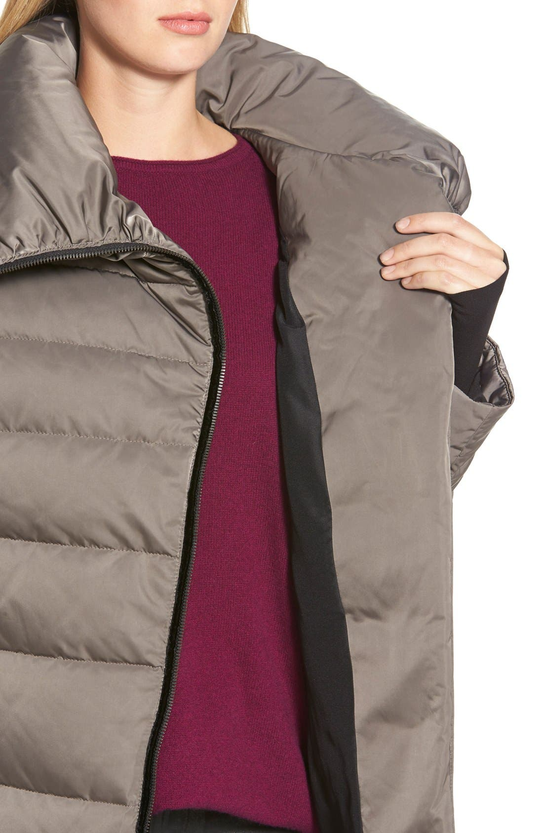 Alternate Image 4  - Vera Wang 'Blaire' Asymmetrical Quilted Coat