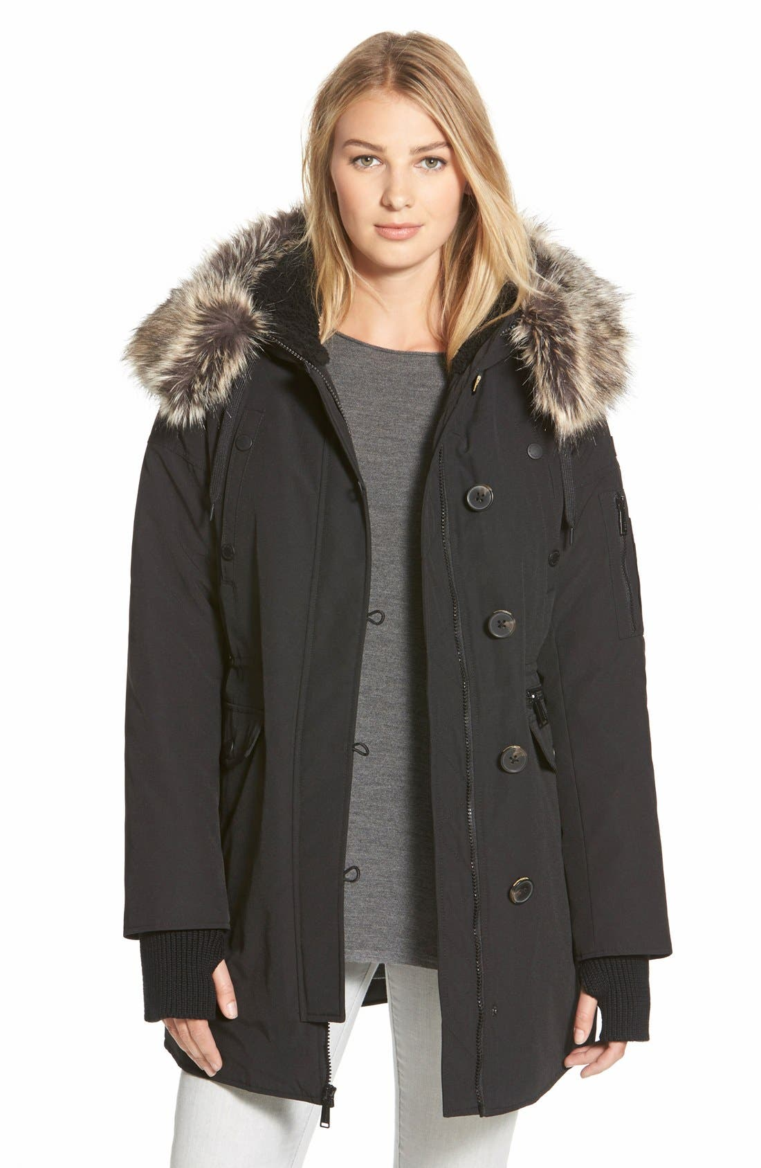 Alternate Image 1 Selected - BCBGeneration'Expedition' FauxFur & FauxShearling Trim Parka
