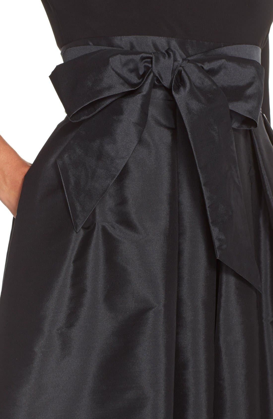 Alternate Image 5  - Adrianna PapellBow Taffeta Fit & Flare Dress (Regular & Petite)