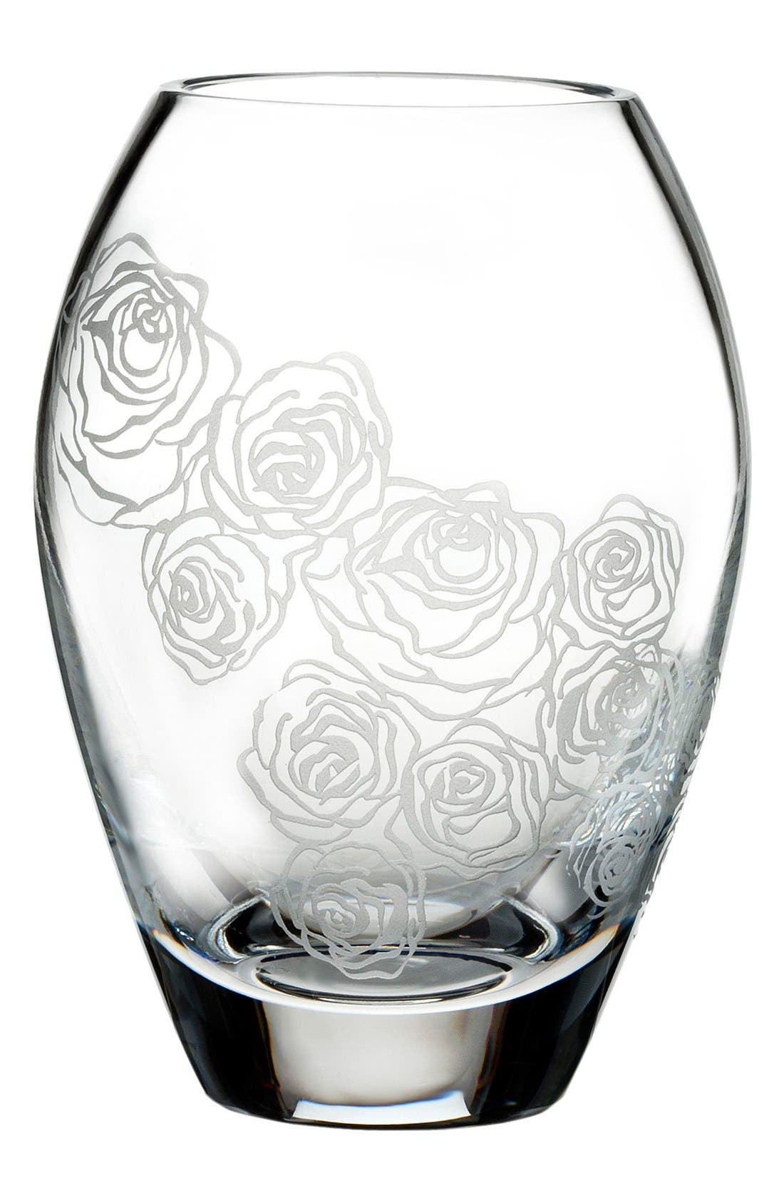 MONIQUE LHUILLIER WATERFORD 'Sunday Rose' Lead Crystal PosyVase