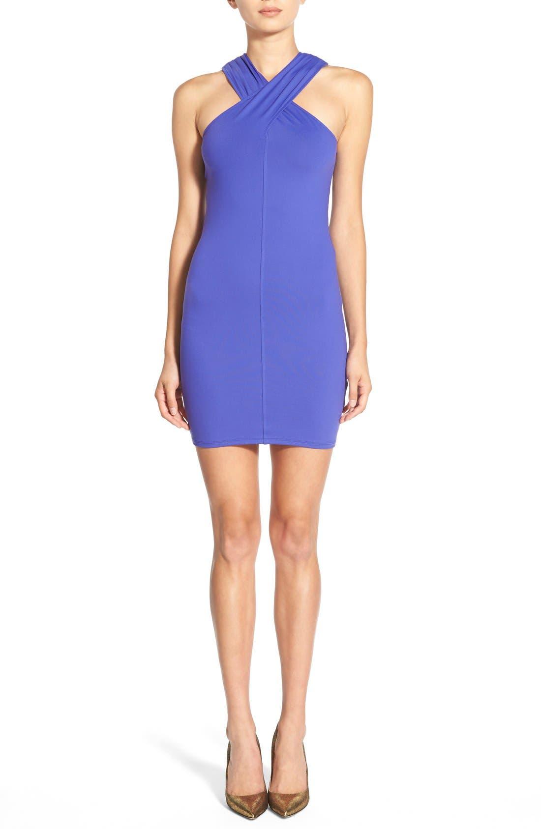 Main Image - Leith Cross Neck Body-Con Dress