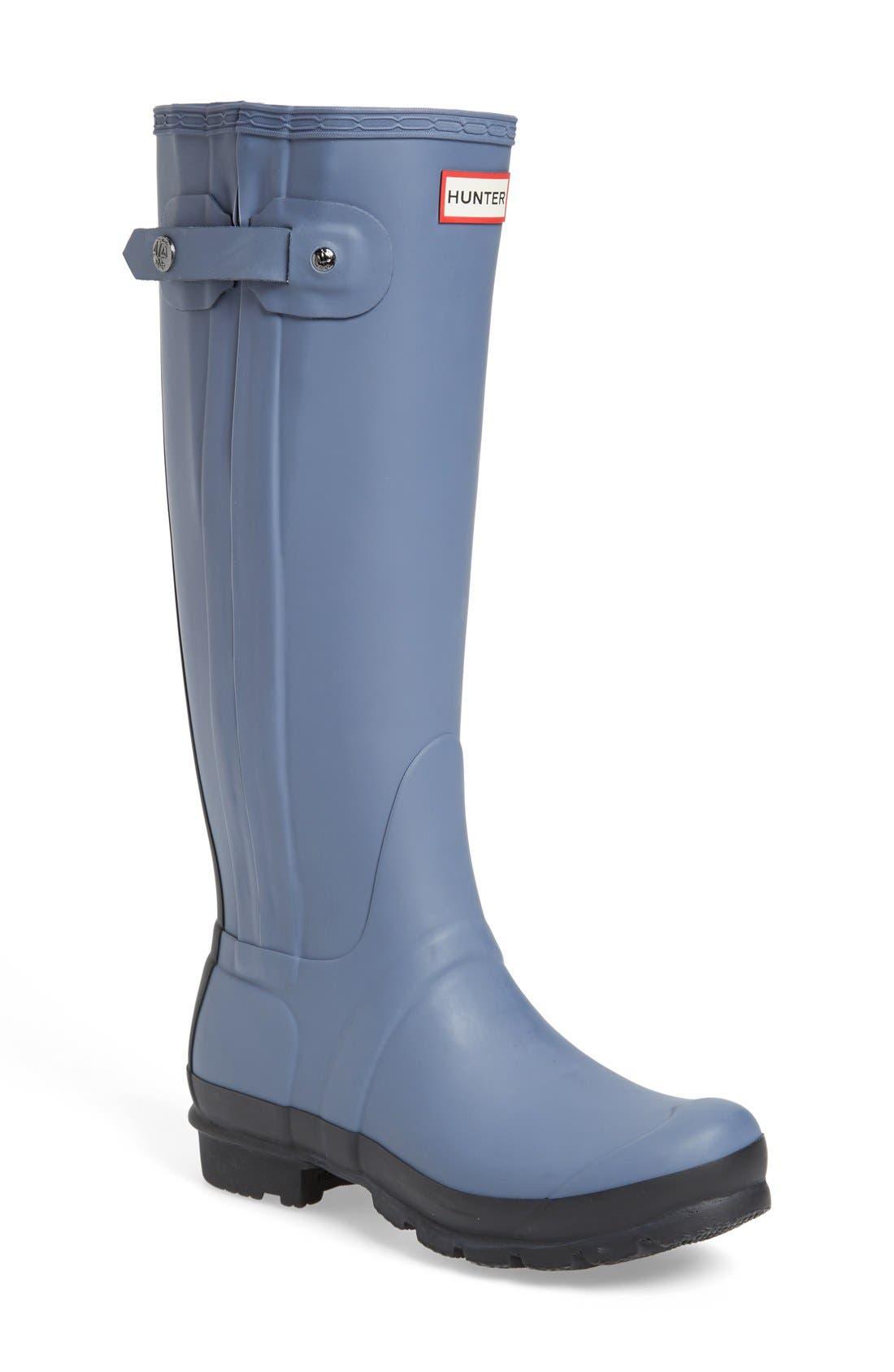 Alternate Image 1 Selected - Hunter 'Original Slim' Two-Tone Rubber Rain Boot (Women)