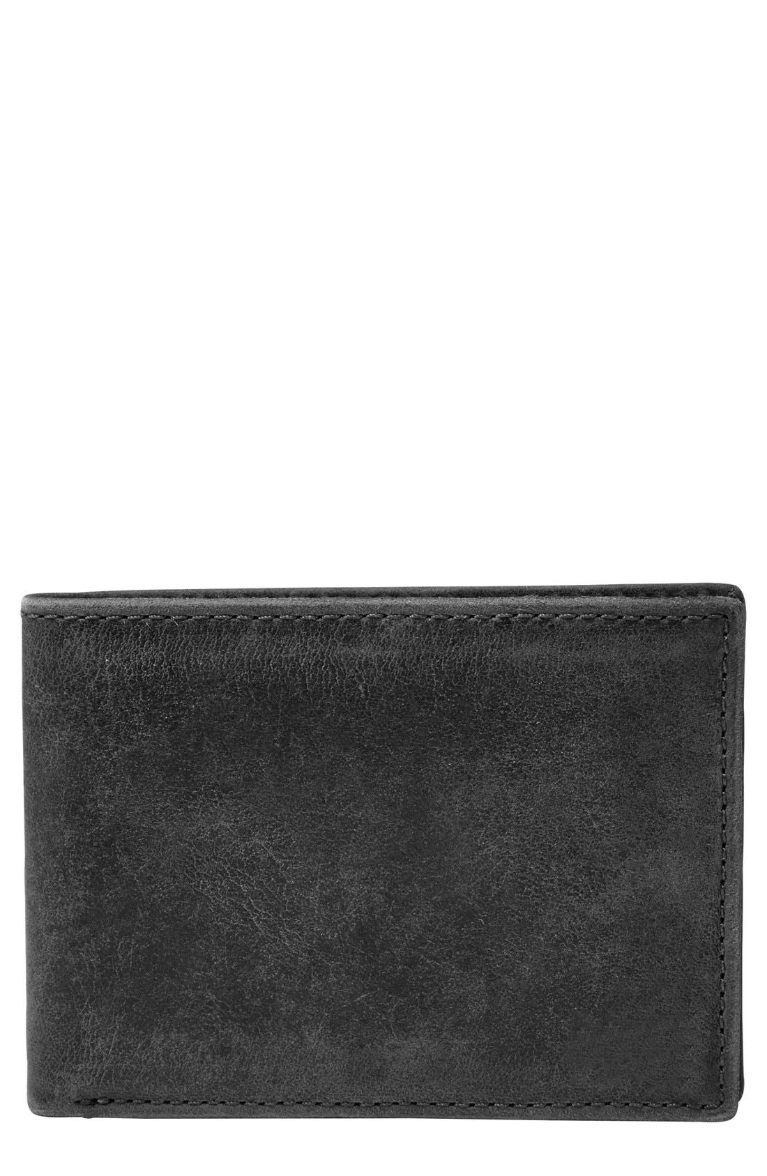 Fossil 'Anderson' Leather Front Pocket Bifold Wallet