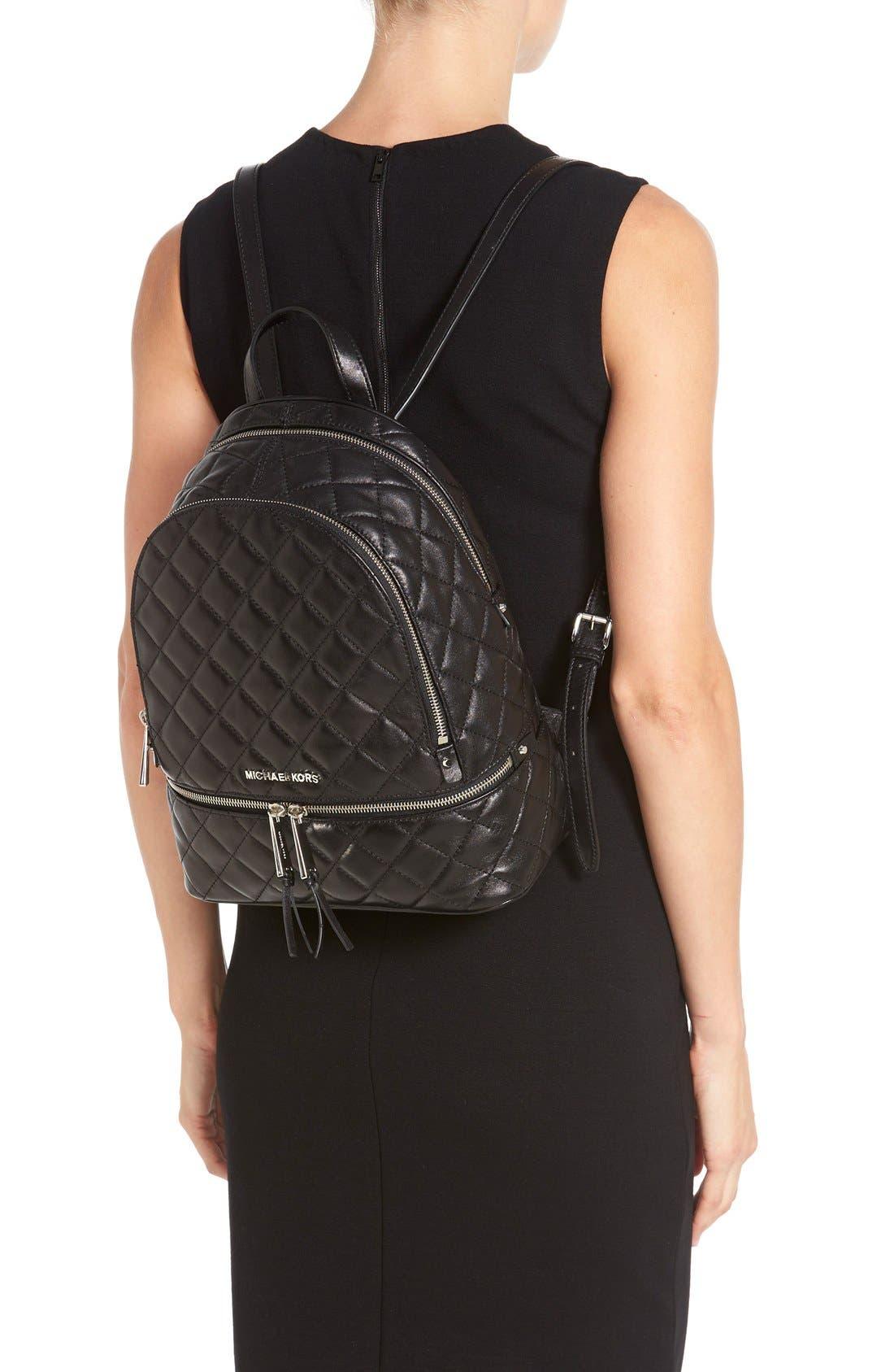 Alternate Image 2  - MICHAEL Michael Kors 'Medium Rhea Zip' Quilted Backpack (Nordstrom Exclusive)