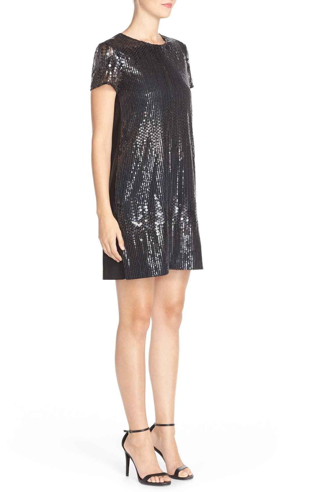 Alternate Image 3  - CeCe by Cynthia Steffe 'Michele' Sequin Woven Shift Dress