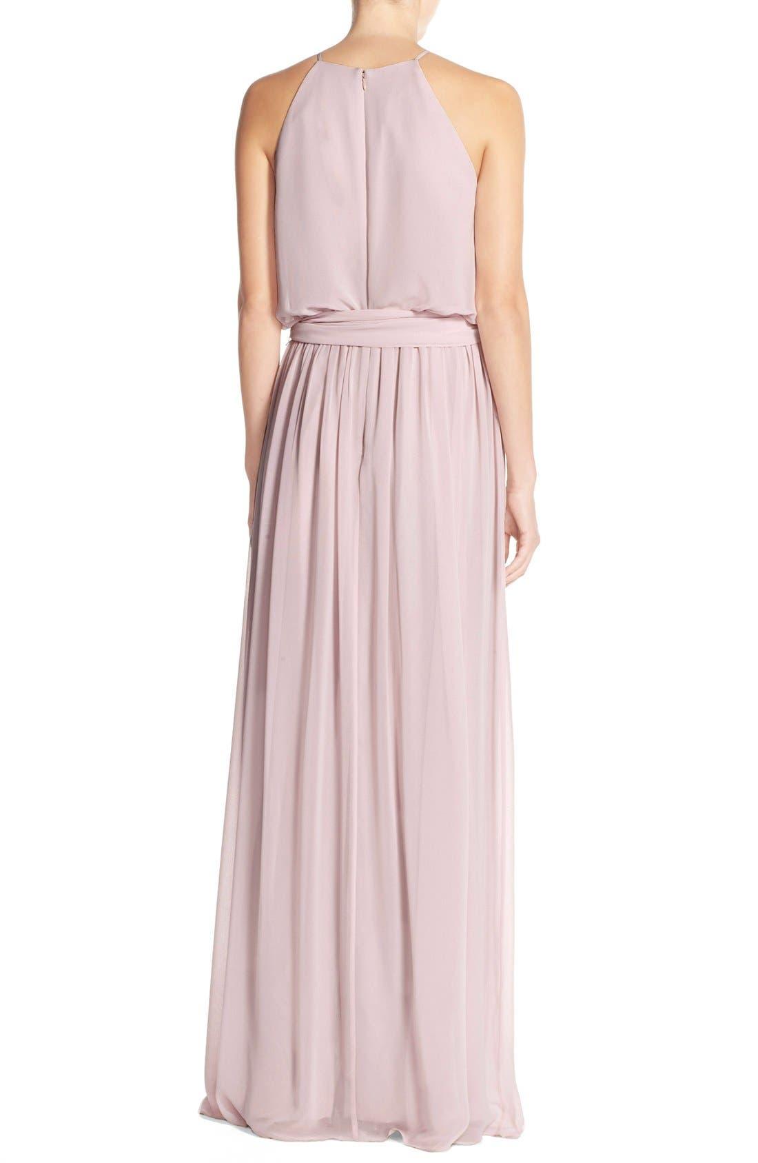 Alternate Image 2  - Donna Morgan 'Alana' Chiffon Halter Style Gown