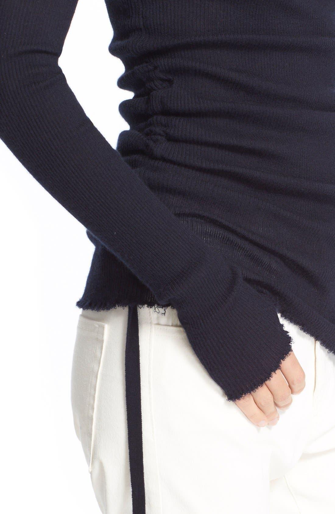 Alternate Image 4  - Helmut Lang RuchedCashmere Sweater