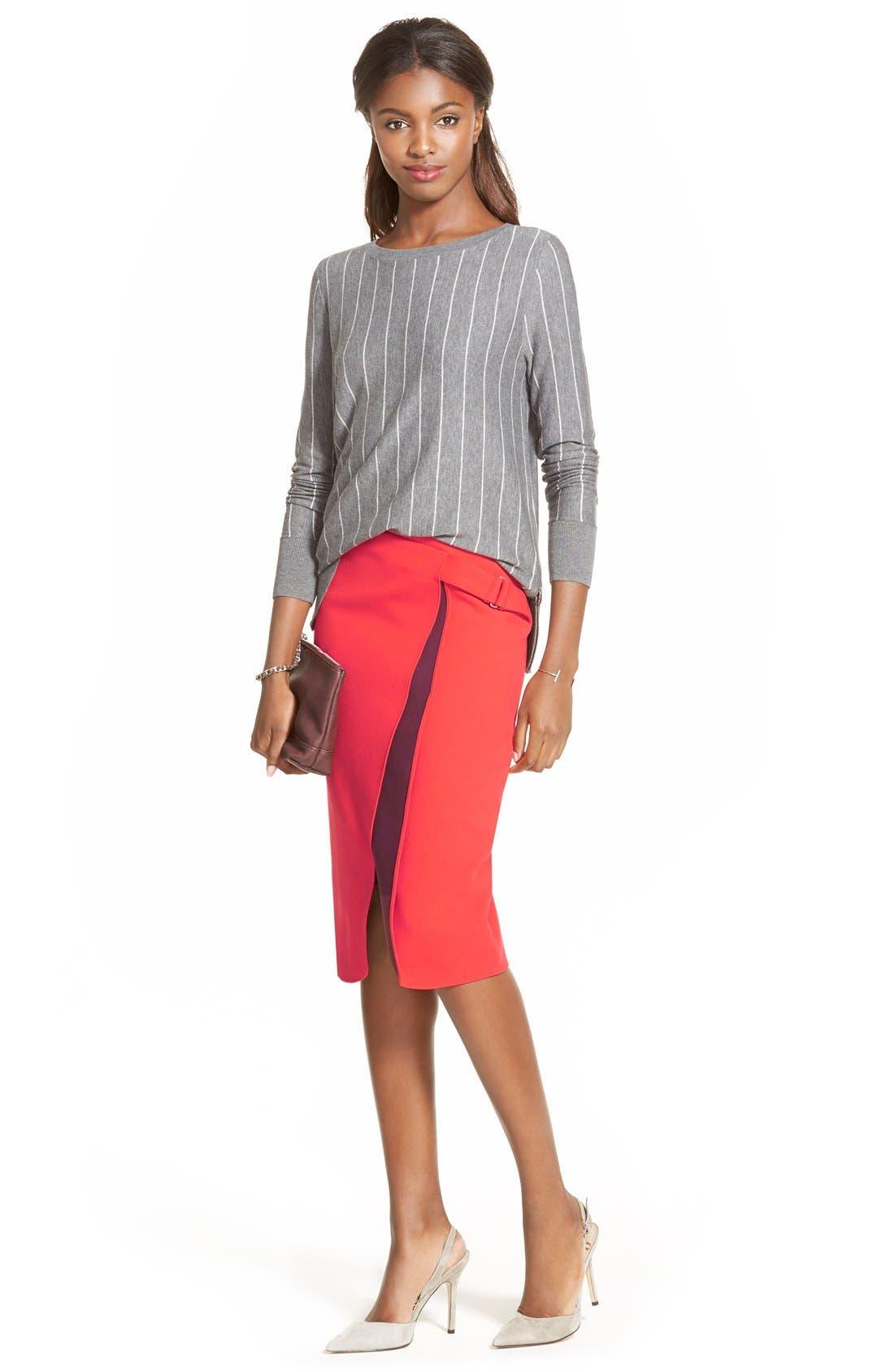 Alternate Image 5  - Halogen® Belt Detail FauxWrap Skirt