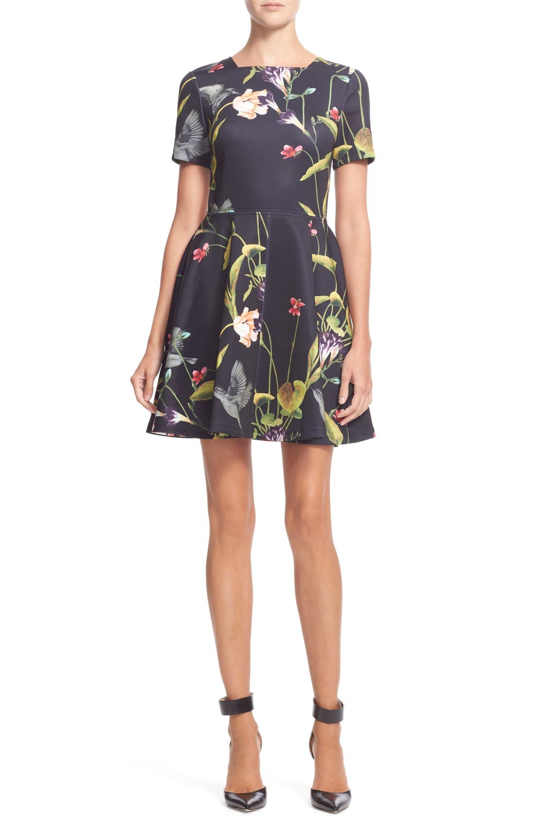 Alternate Image 1 Selected - Ted Baker London 'Moven' Floral Print Skater Dress