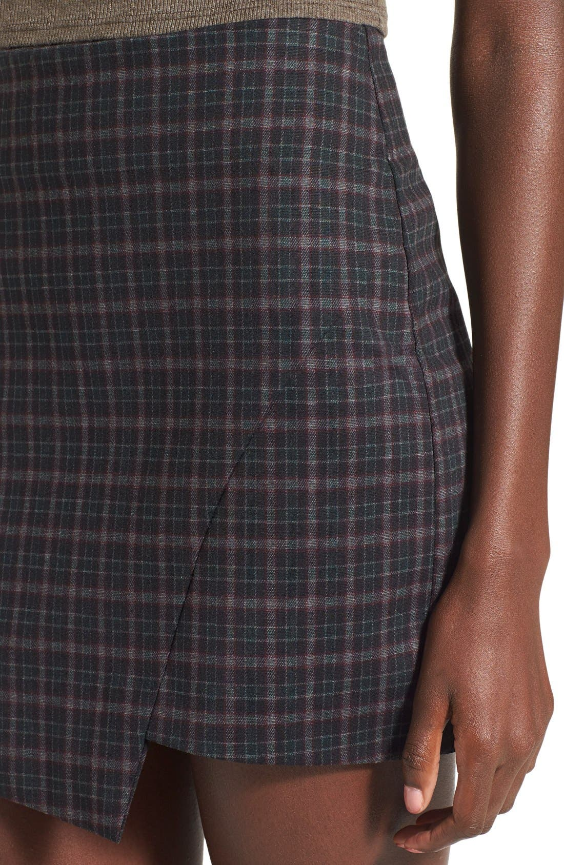 Alternate Image 4  - Fire Asymmetrical Hem Plaid Skirt