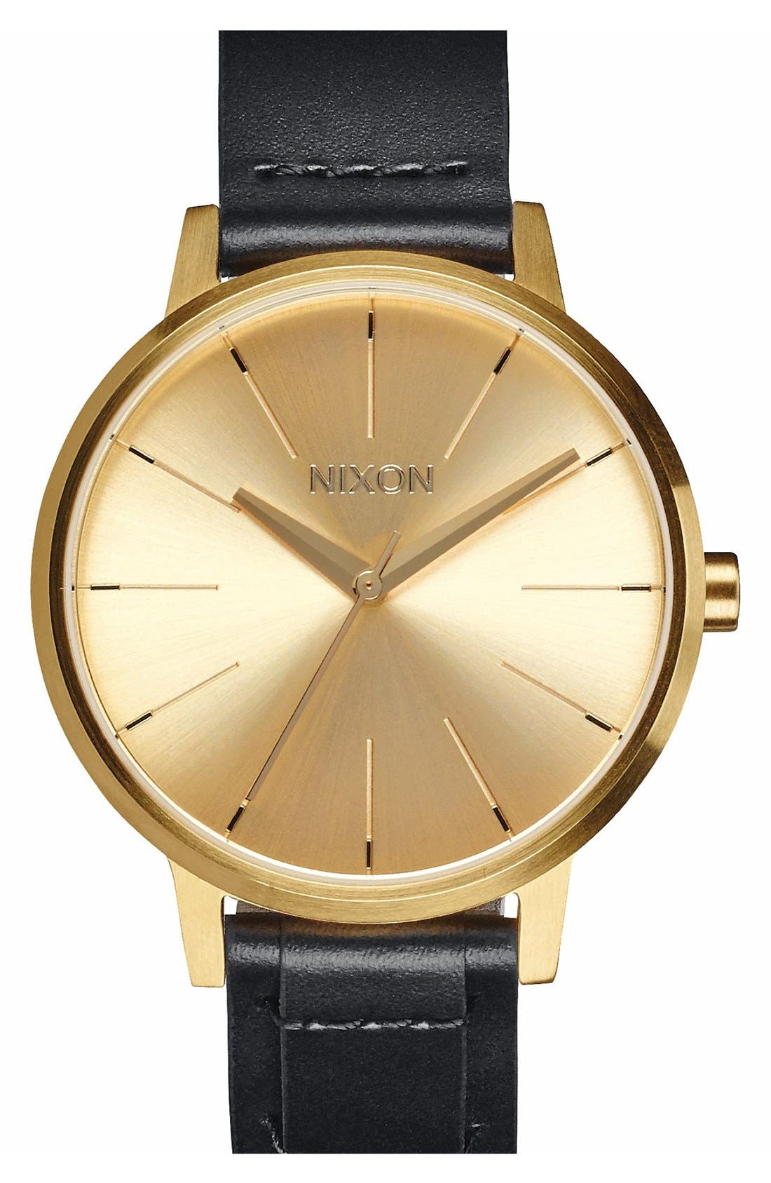 Main Image - Nixon 'The Kensington' Leather Strap Watch, 37mm