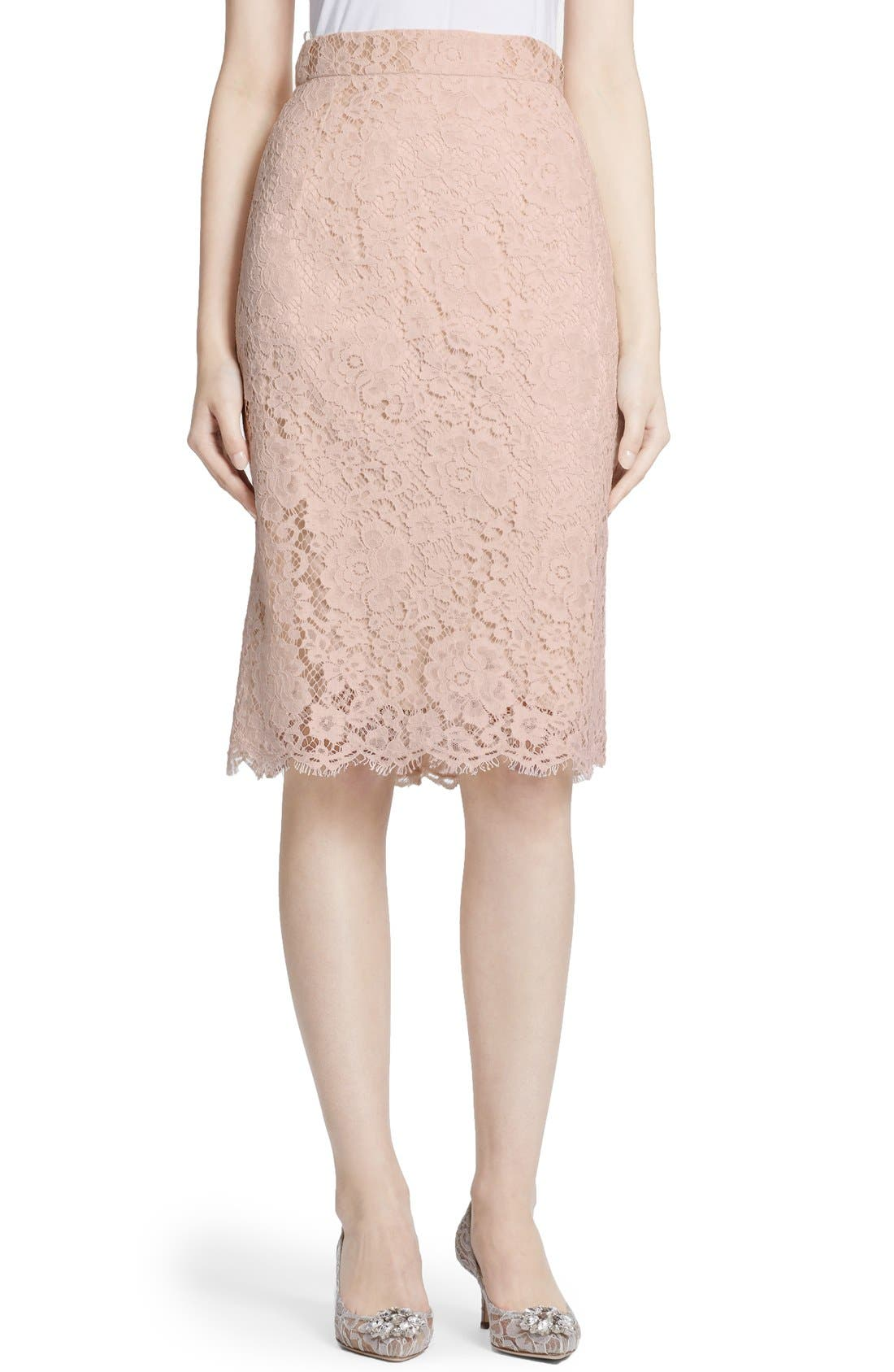 Alternate Image 1 Selected - Dolce&Gabbana Lace Pencil Skirt