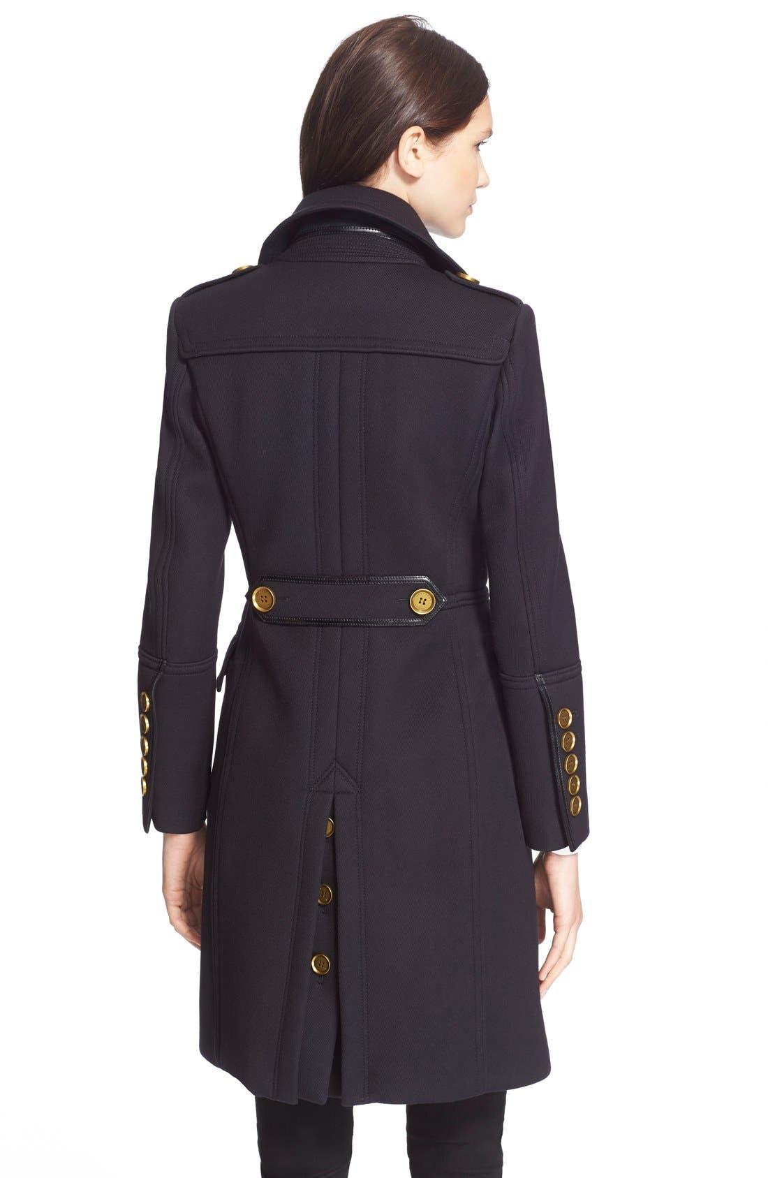 Alternate Image 2  - BurberryLondon 'Whittingstall' Wool Military Coat