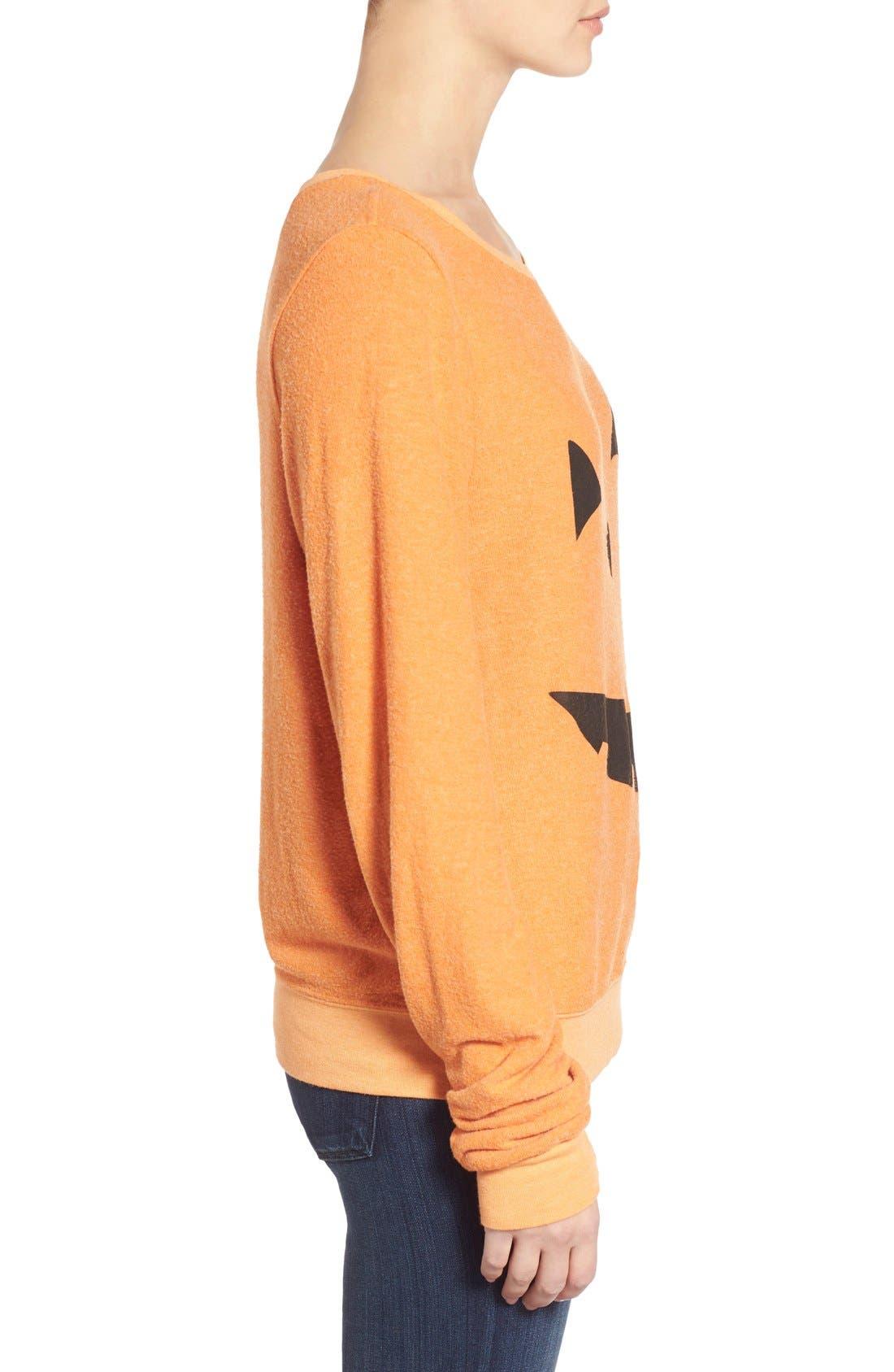 Alternate Image 4  - Wildfox'Baggy Beach Jumper -Pumpkin Love' Pullover