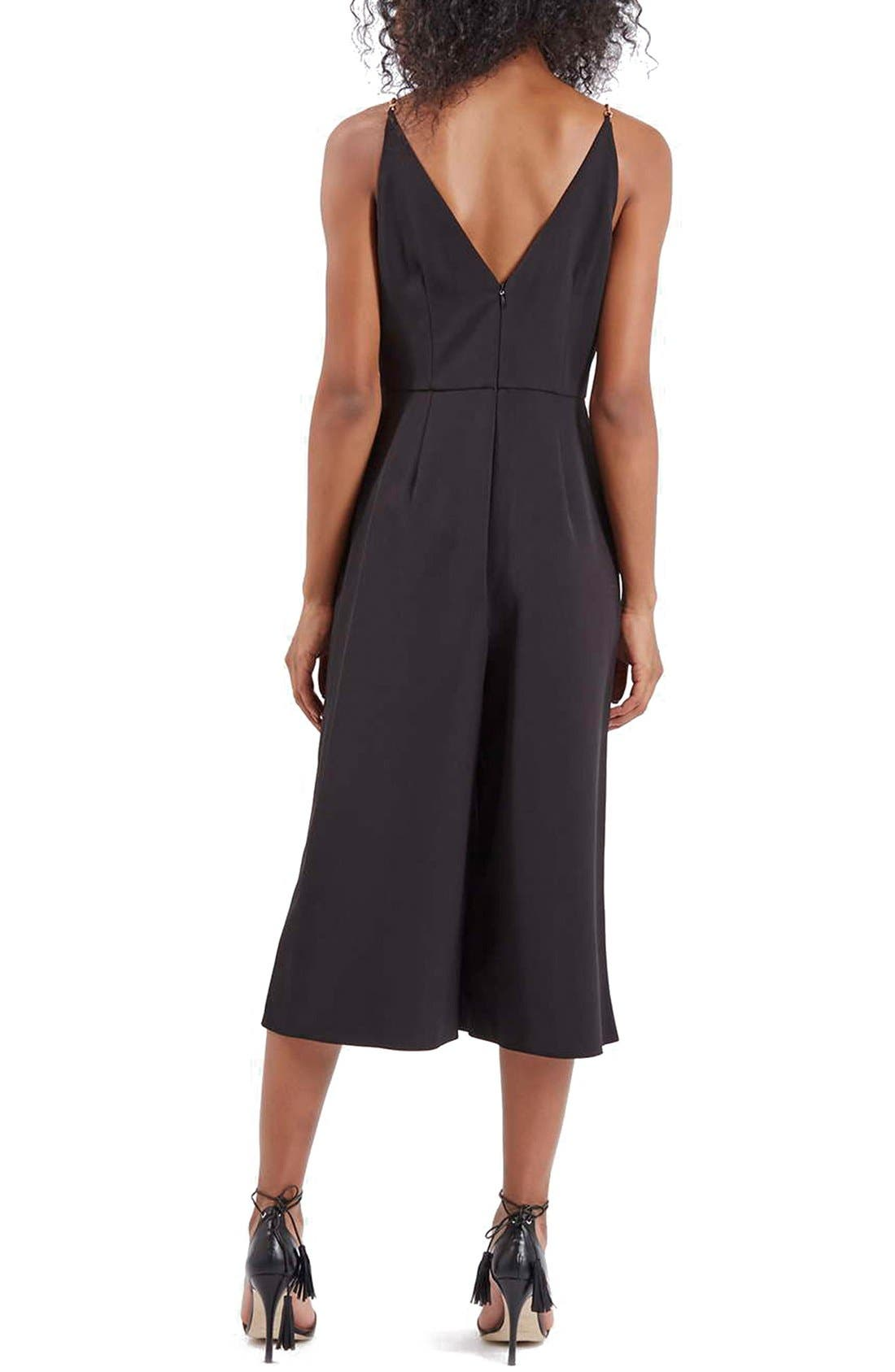 Alternate Image 2  - Topshop V-Neck Culotte Jumpsuit