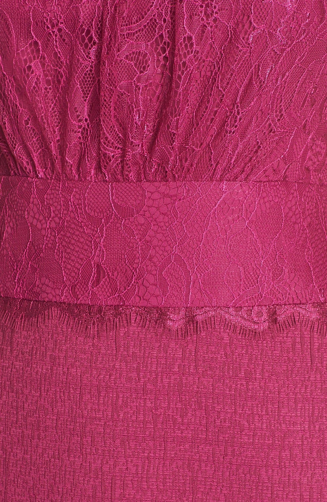 Alternate Image 5  - Adrianna Papell Lace & Jacquard Blouson Dress (Regular & Petite)