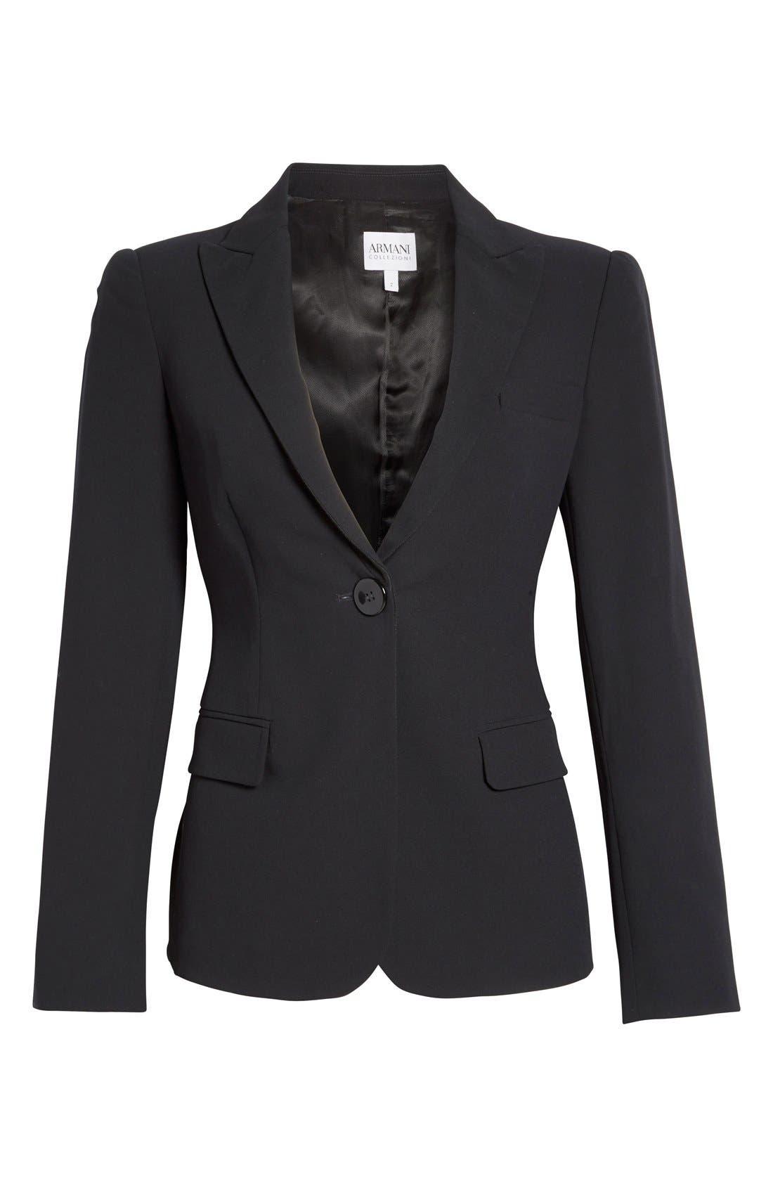 Alternate Image 7  - Armani Collezioni Single Button Wool Jacket