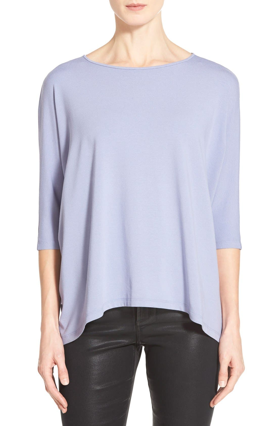 Alternate Image 1 Selected - Eileen Fisher Ballet Neck Jersey Top