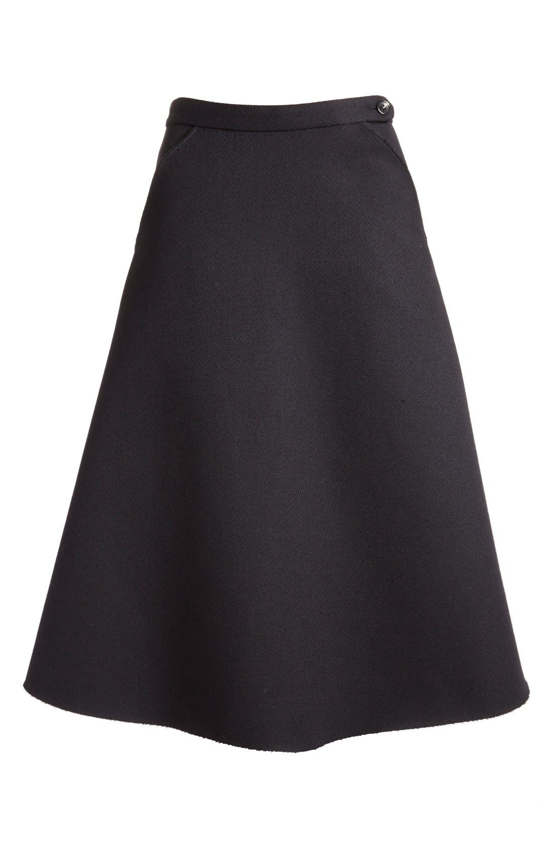 Alternate Image 4  - ELLERY 'Saturn' Flared Wool Blend Skirt