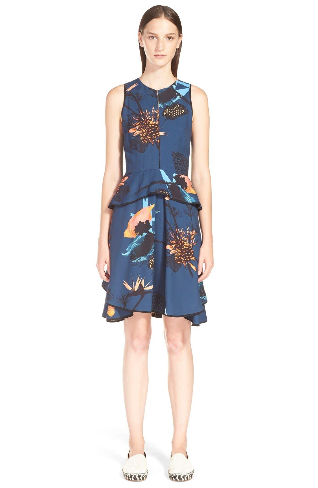 Main Image - ProenzaSchoulerTropical Print Sleeveless Ruffle Dress