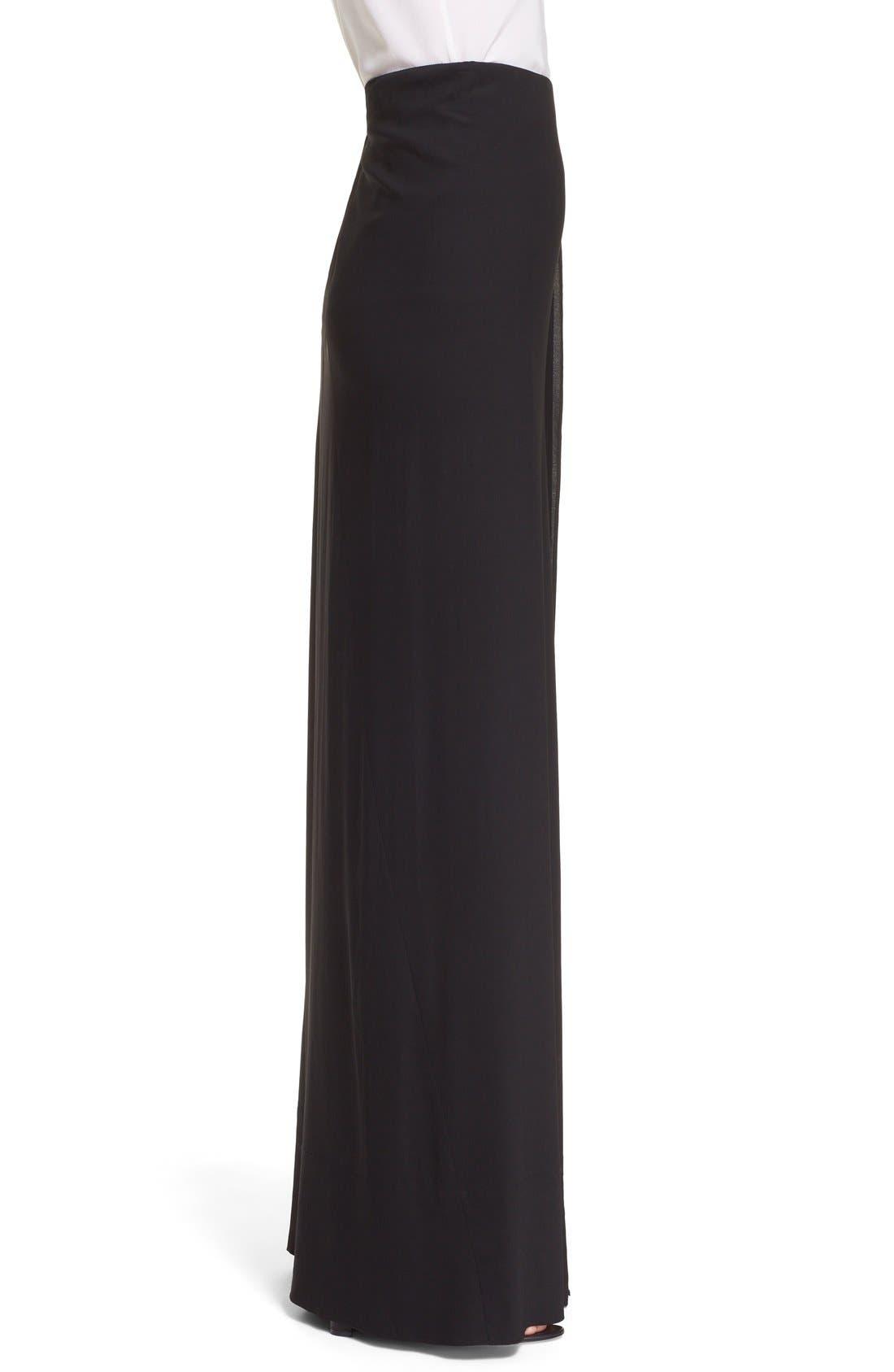 Alternate Image 5  - Donna Karan New York Crepe Flutter Maxi Skirt