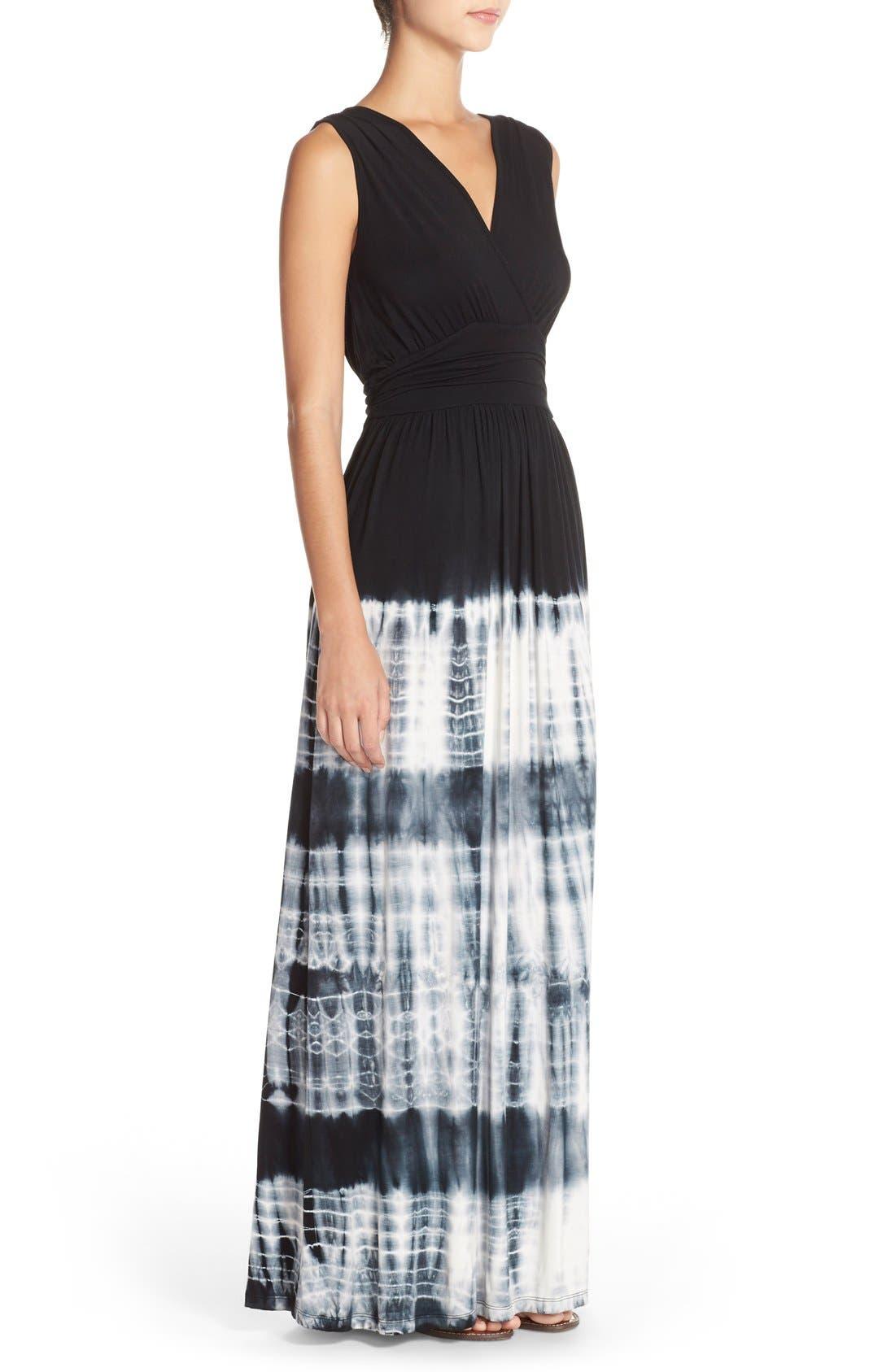 Alternate Image 3  - Fraiche by J Tie Dye Ombré Jersey Maxi Dress