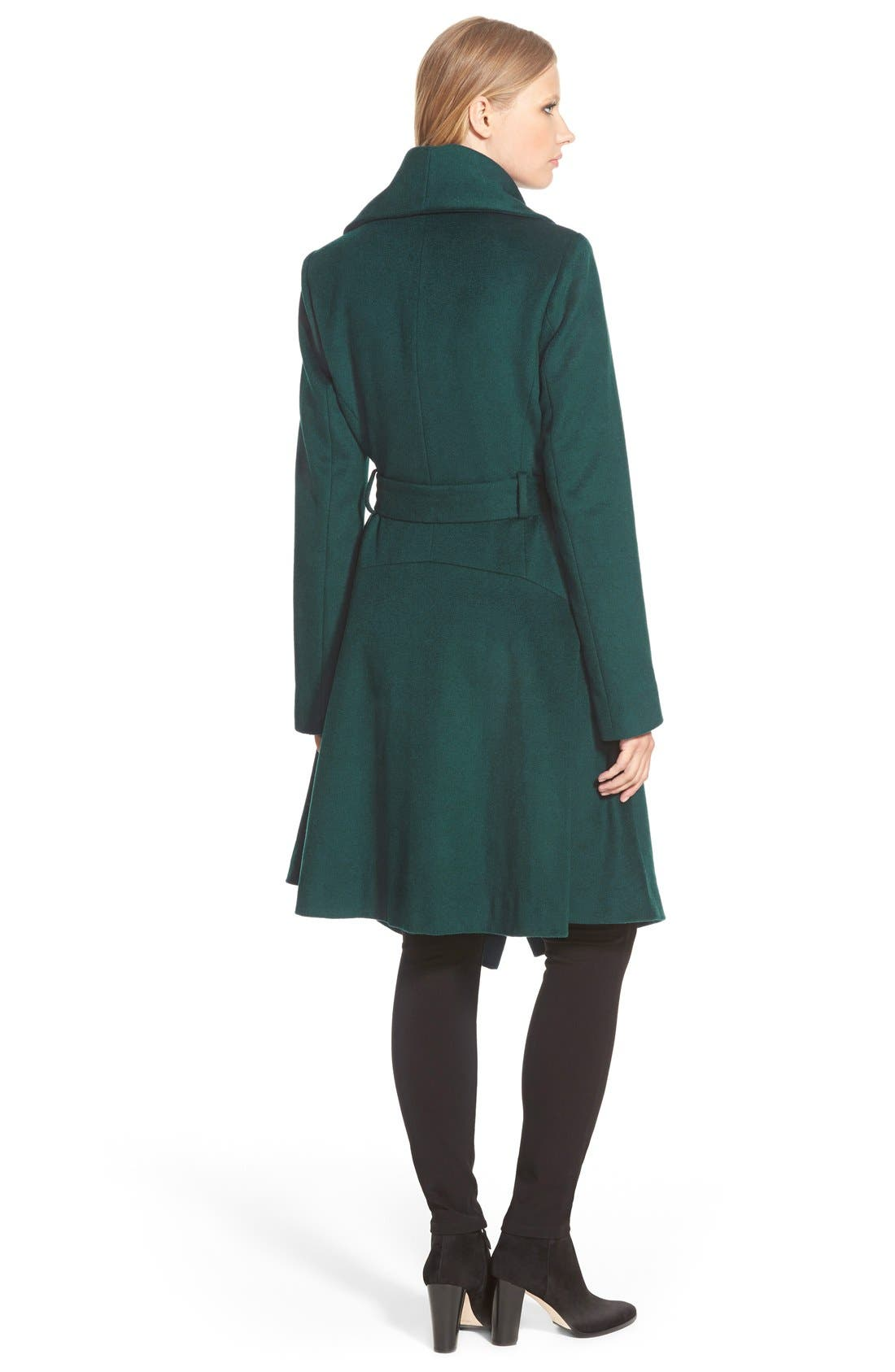 Alternate Image 2  - Diane von Furstenberg 'Harlow' Drape Collar Wool Blend Wrap Coat