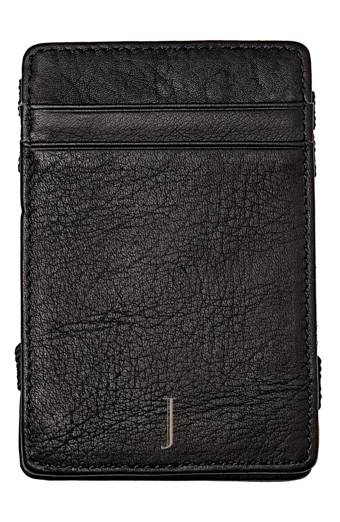 Cathy's Concepts 'Magic' Monogram Leather Wallet